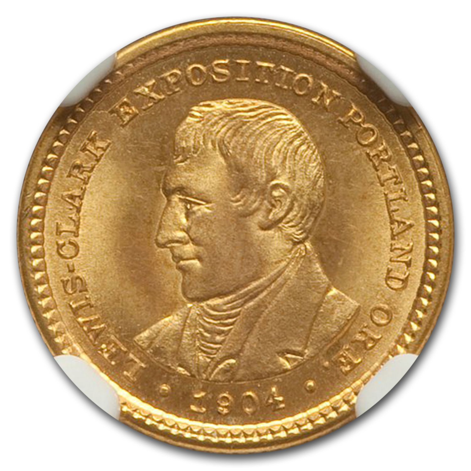 1904 Gold $1.00 Lewis and Clark MS-65 NGC