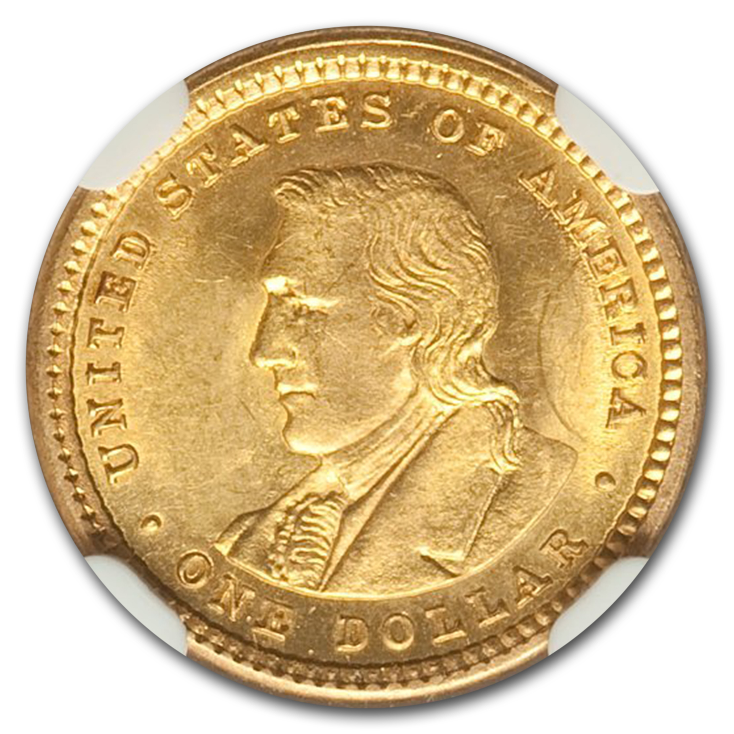 1904 Gold $1.00 Lewis and Clark MS-63 NGC