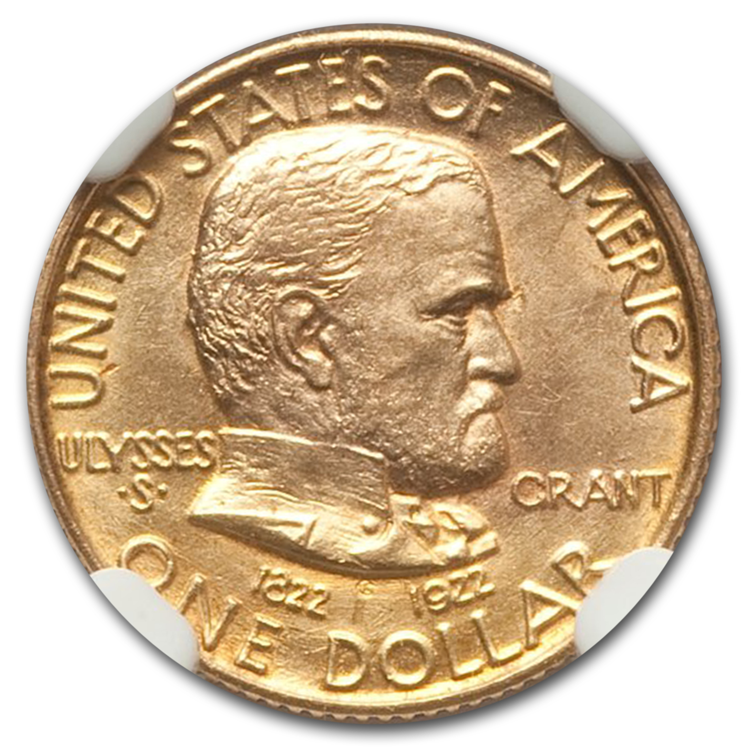 1922 Gold $1.00 Grant MS-63 NGC