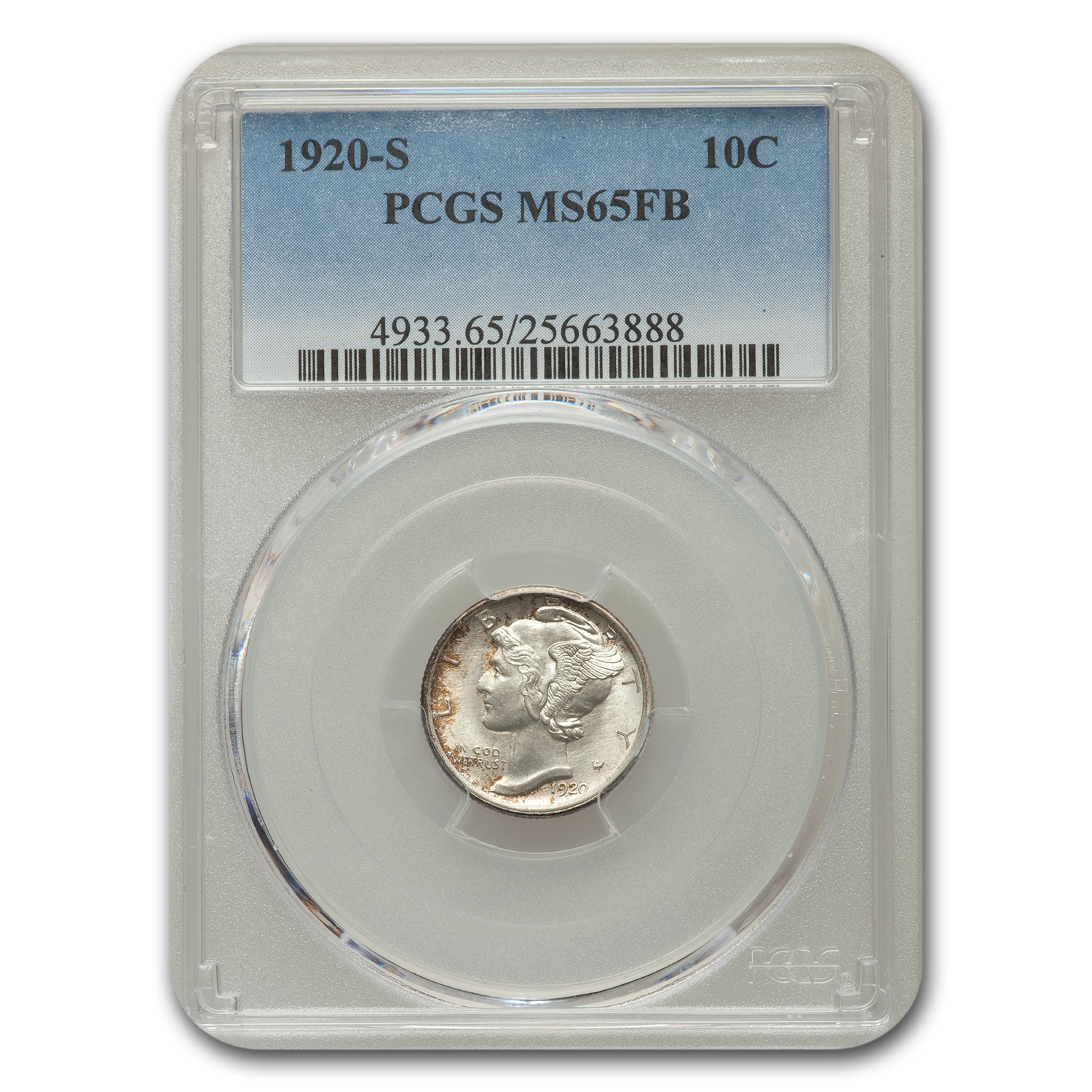 1920-S Mercury Dime MS-65 PCGS (FB)
