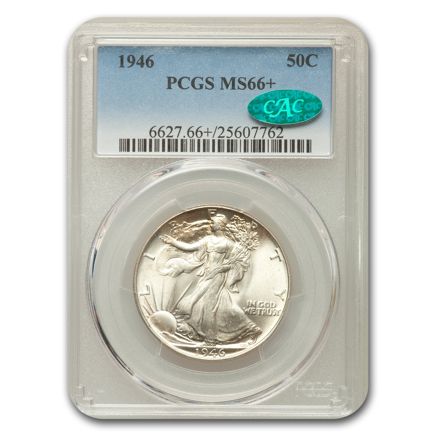 1946 Walking Liberty Half Dollar MS-66+ CAC PCGS