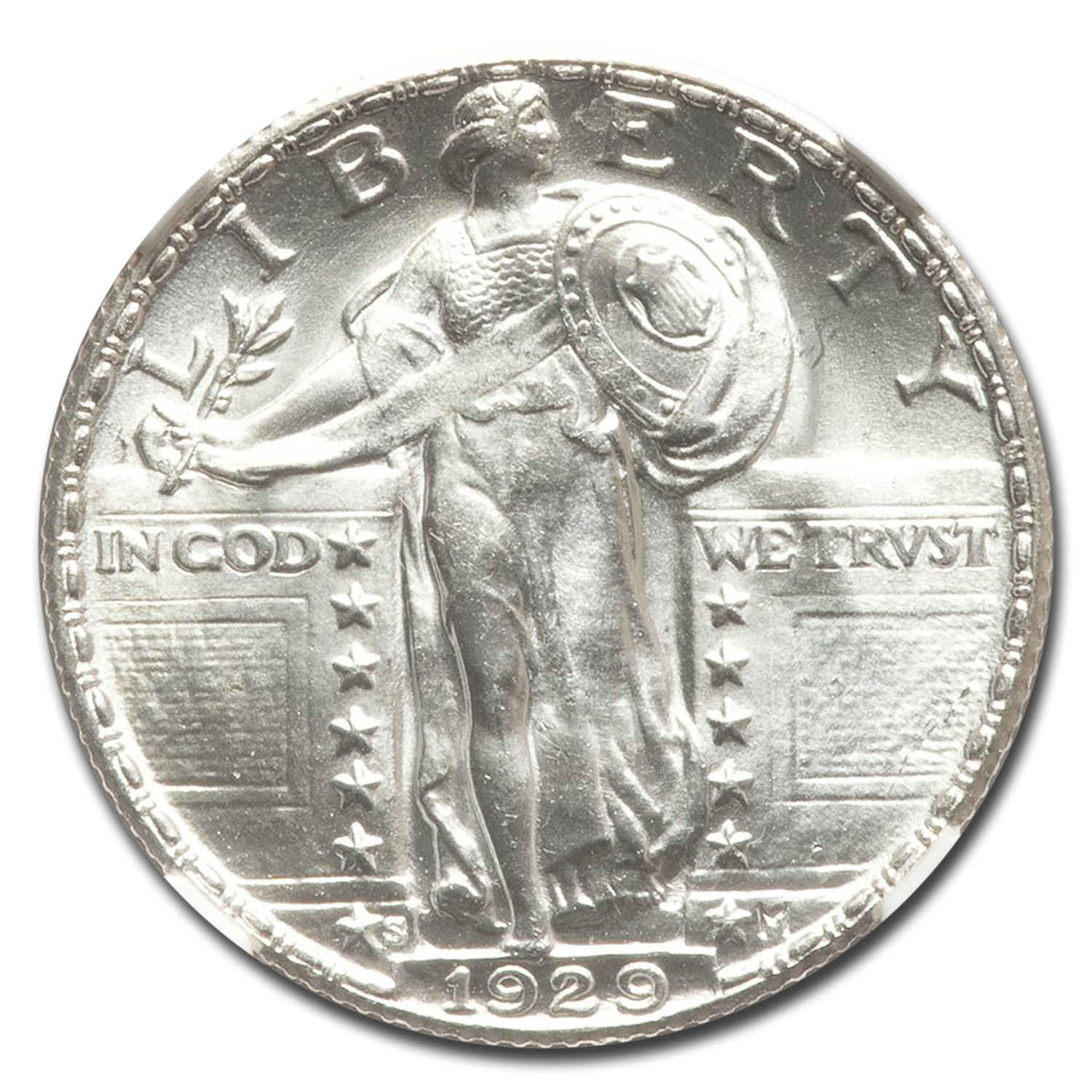 1929-S Standing Liberty Quarter MS-67 NGC (FH)
