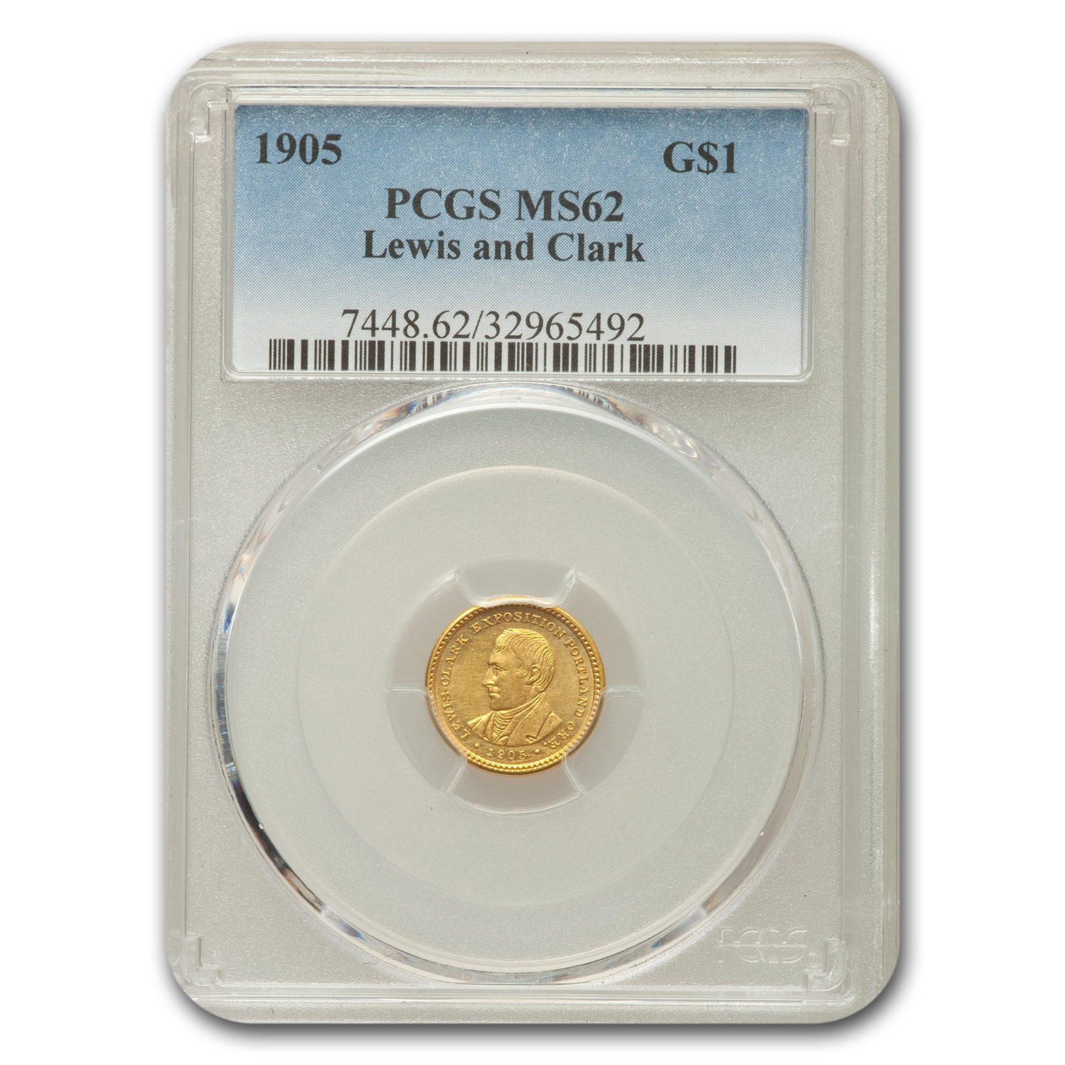 1905 Gold $1.00 Lewis and Clark MS-62 PCGS