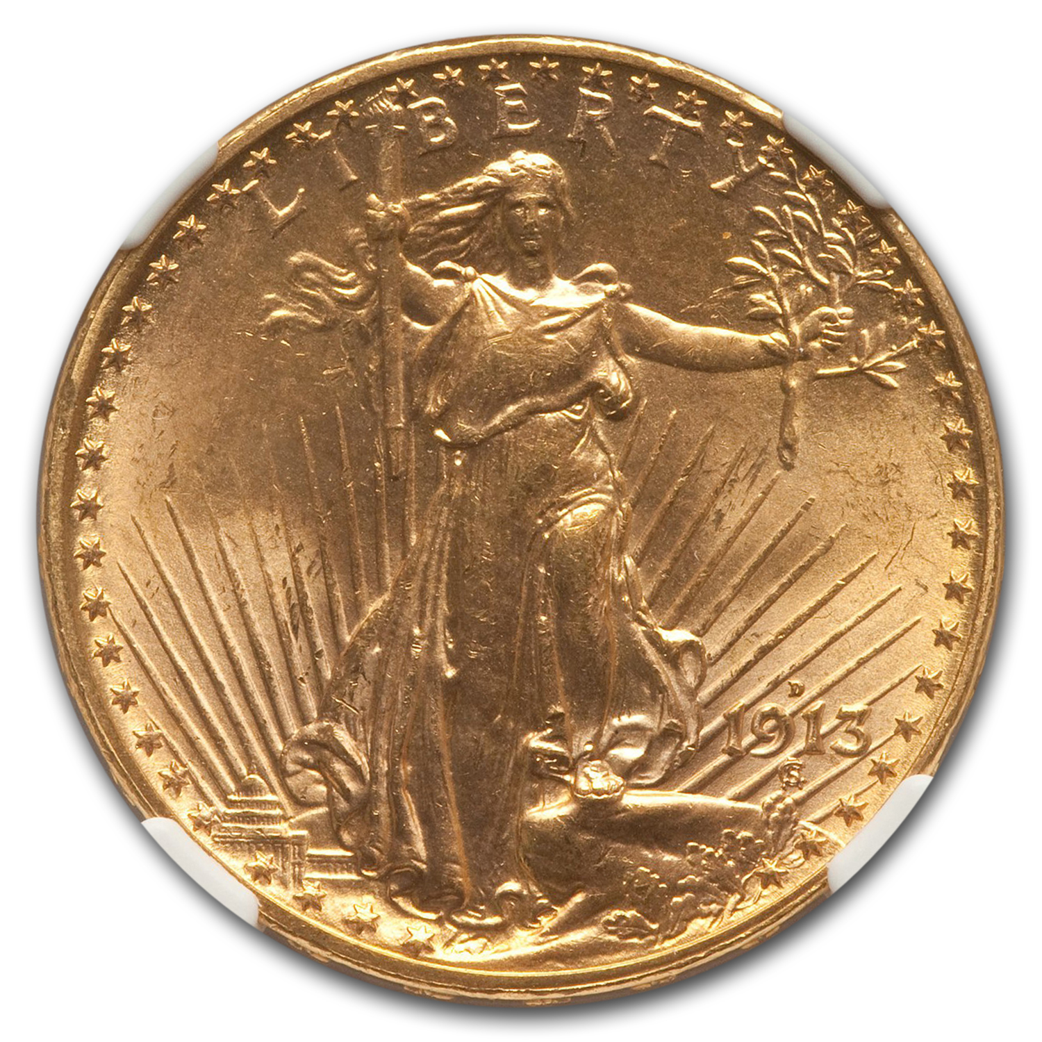 1913-D $20 Saint-Gaudens Double Eagle MS-65 NGC