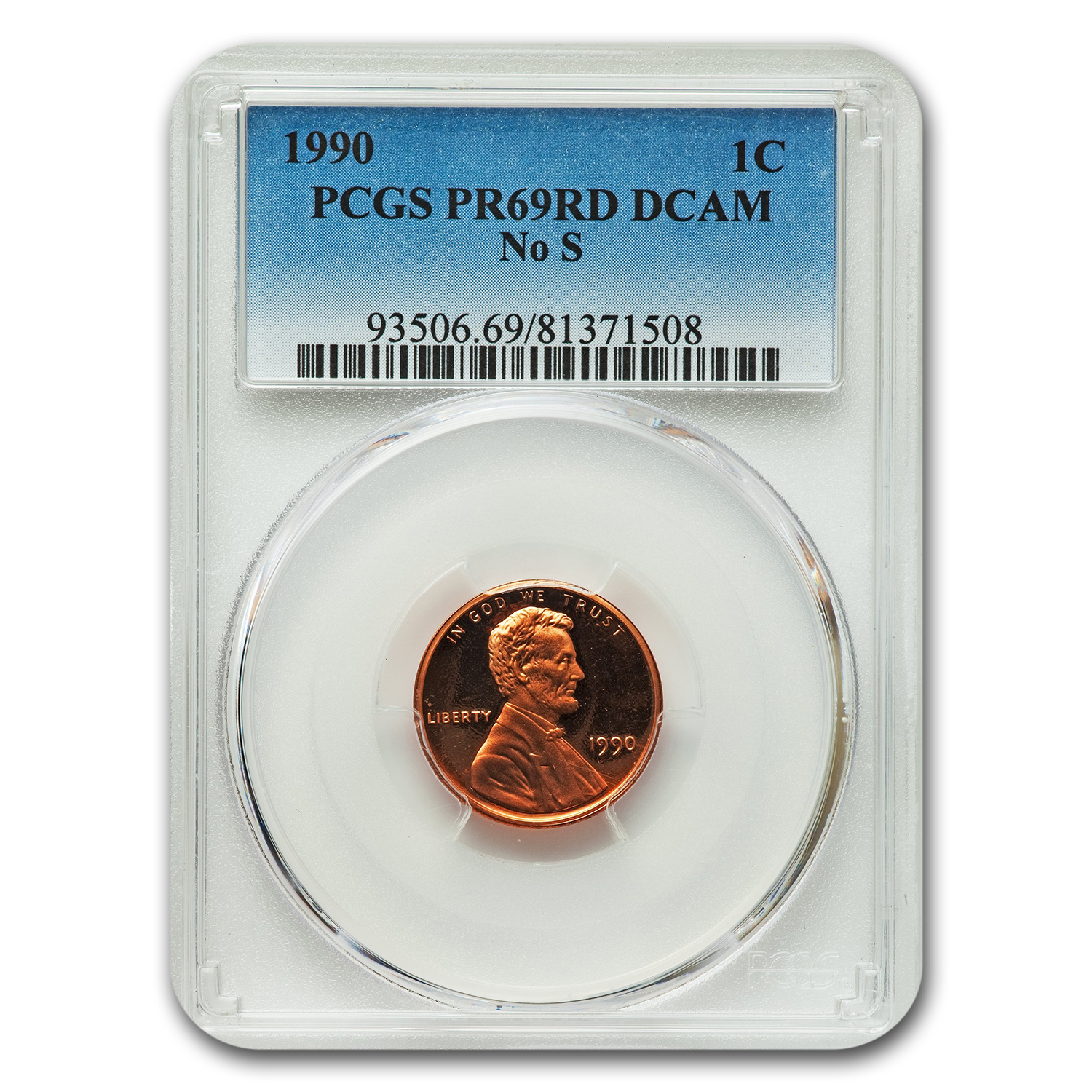 1990 Lincoln Cent PR-69 DCAM PCGS (w/Out S)
