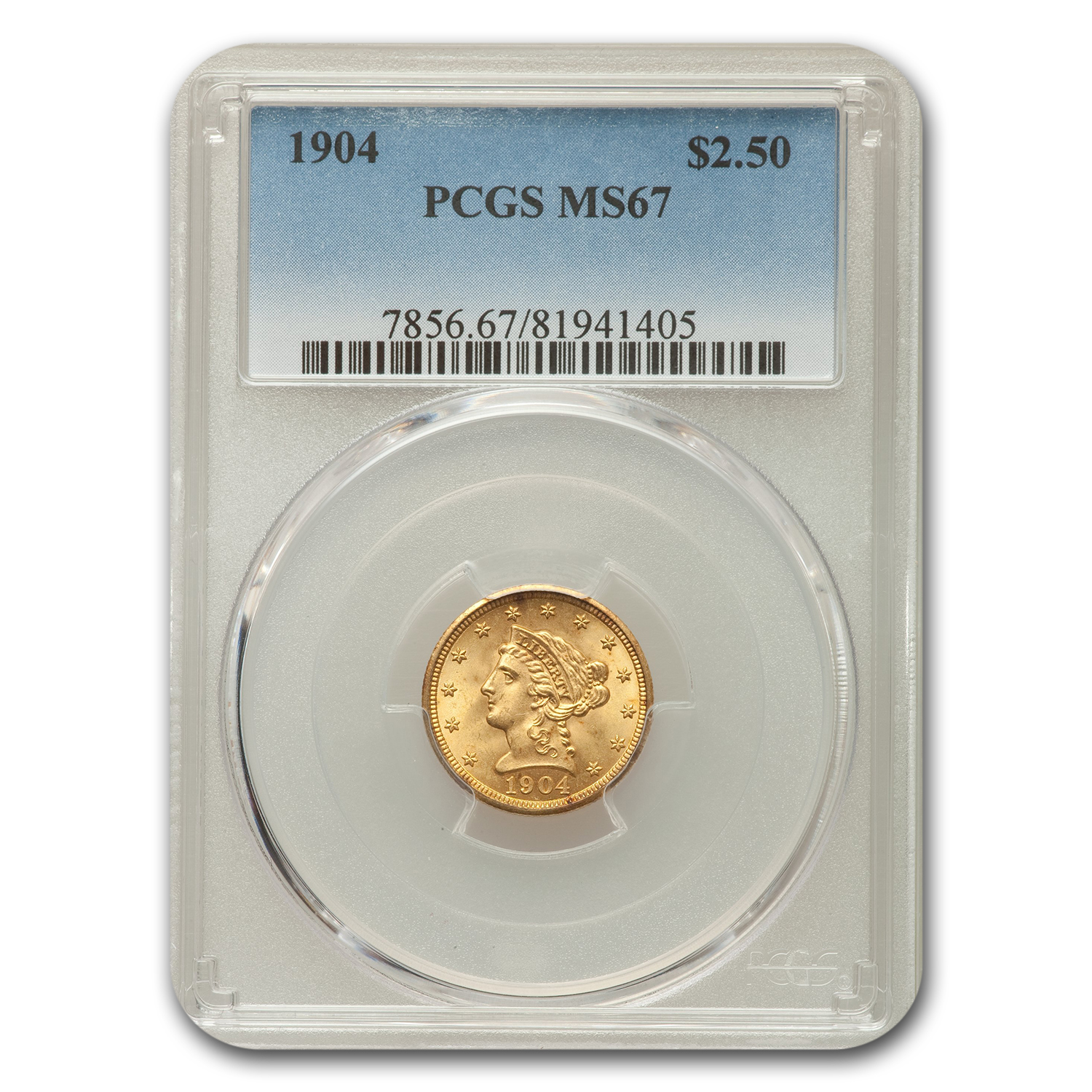 1904 $2.50 Liberty Gold Quarter Eagle MS-67 PCGS