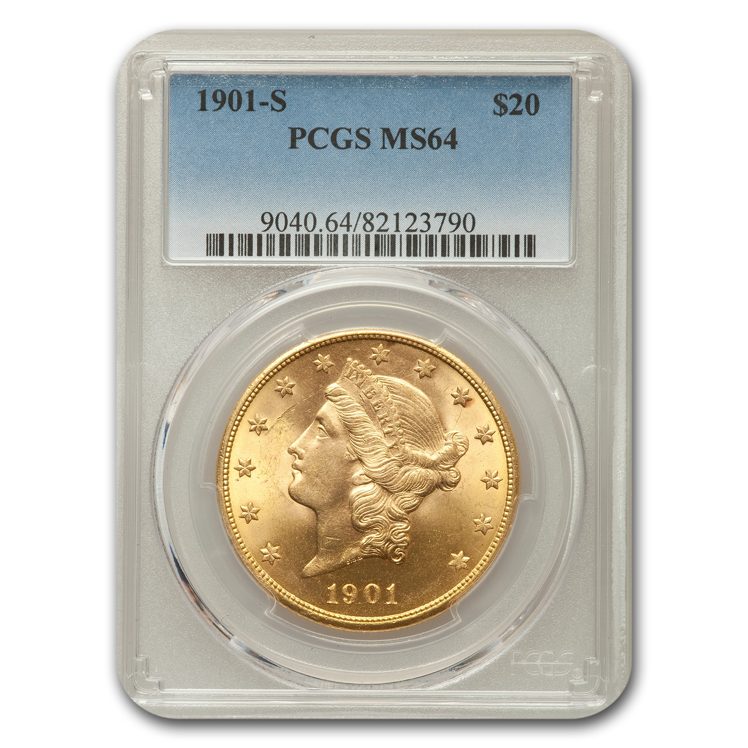1901-S $20 Liberty Double Eagle MS-64 PCGS