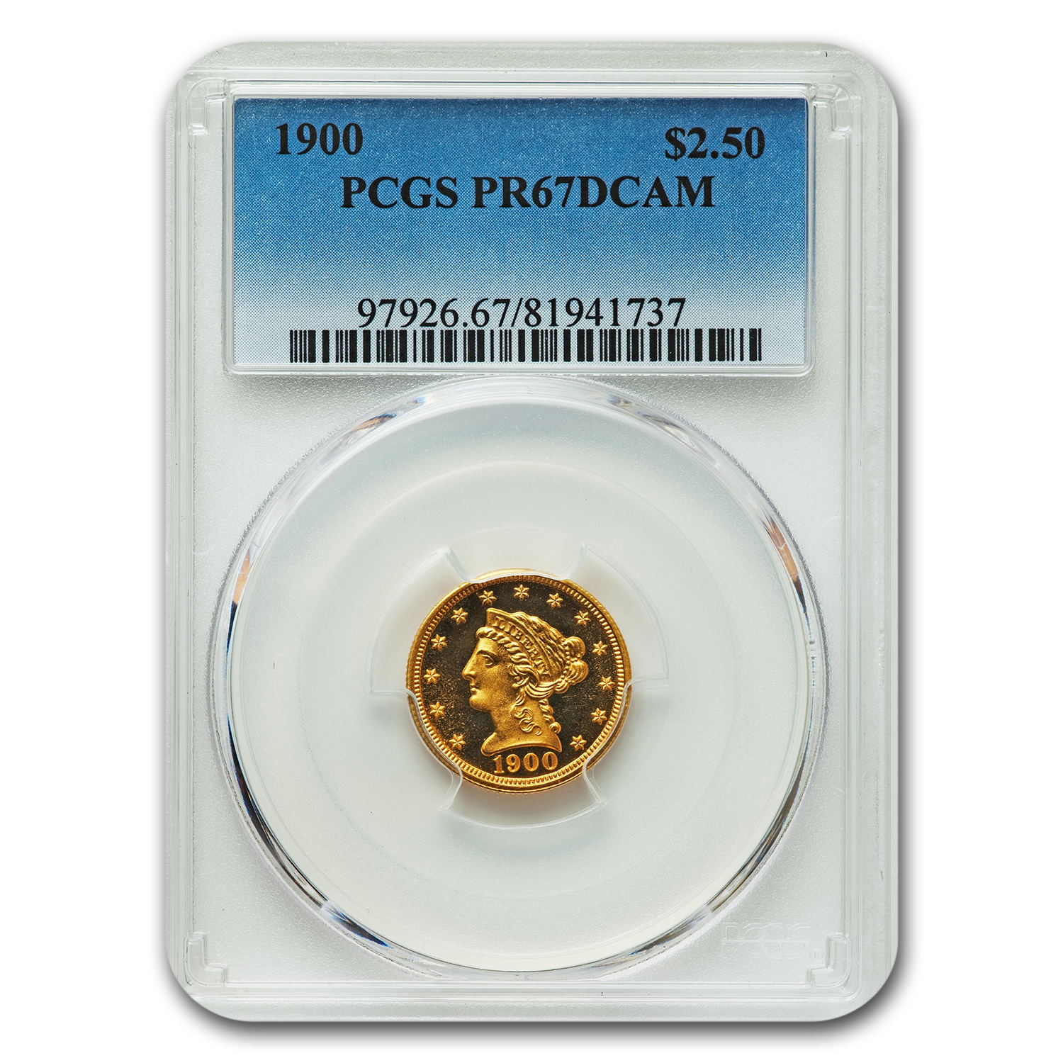1900 $2.50 Quarter Eagle Proof - 67 DCAM PCGS