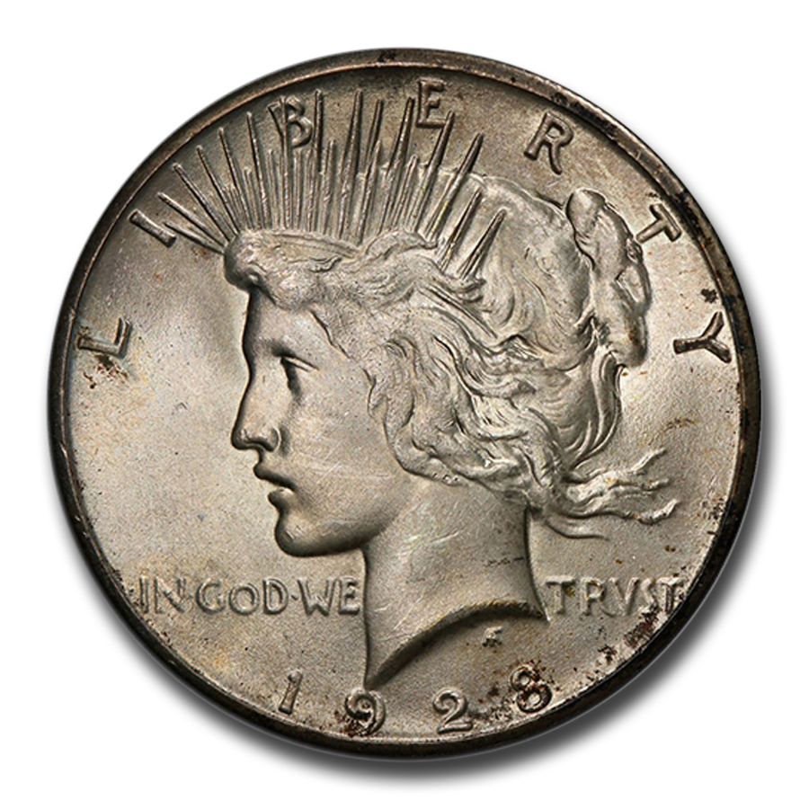 1928 Peace Dollar MS-65 PCGS