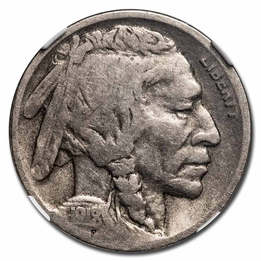 1918/7-D Buffalo Nickel VG-8 NGC