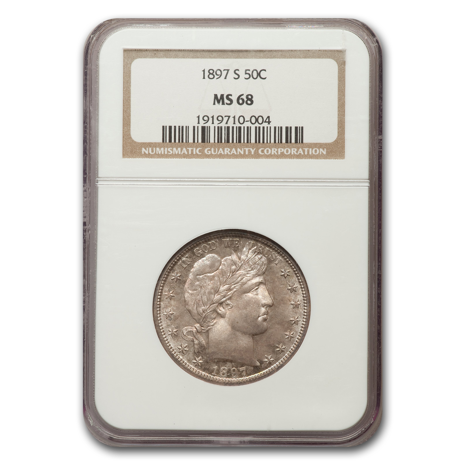 1897-S Barber Half Dollar MS-68 NGC