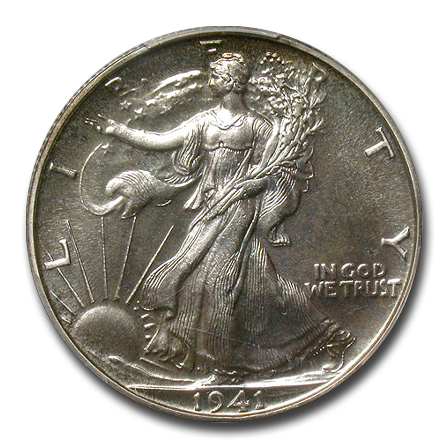 1941 Walking Liberty Half Dollar PR-67 PCGS