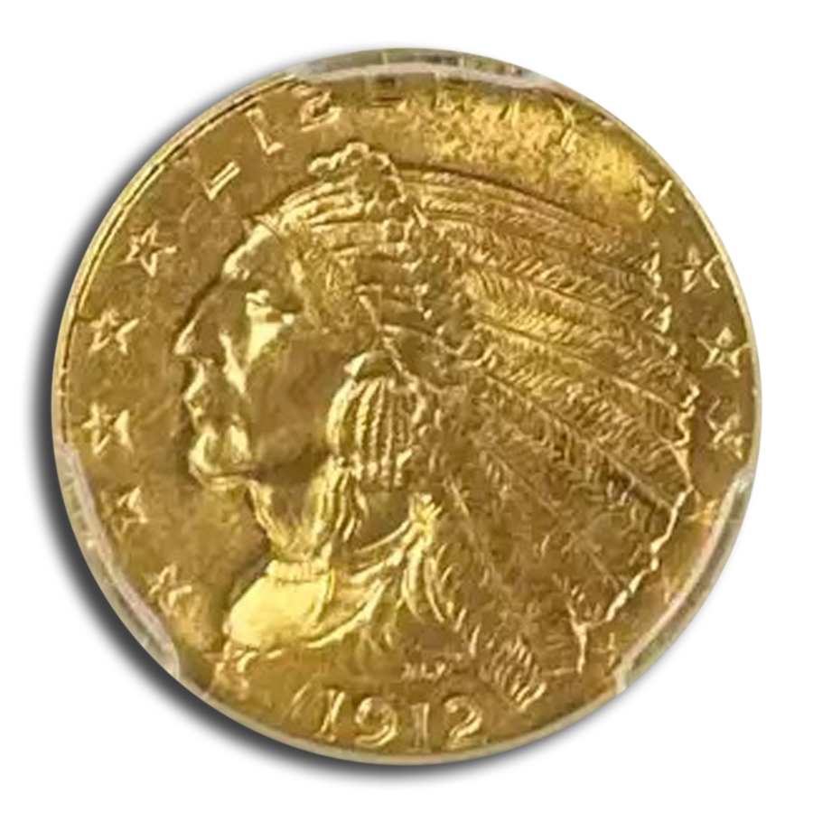 1912 $2.50 Indian Quarter Eagle MS-64 PCGS