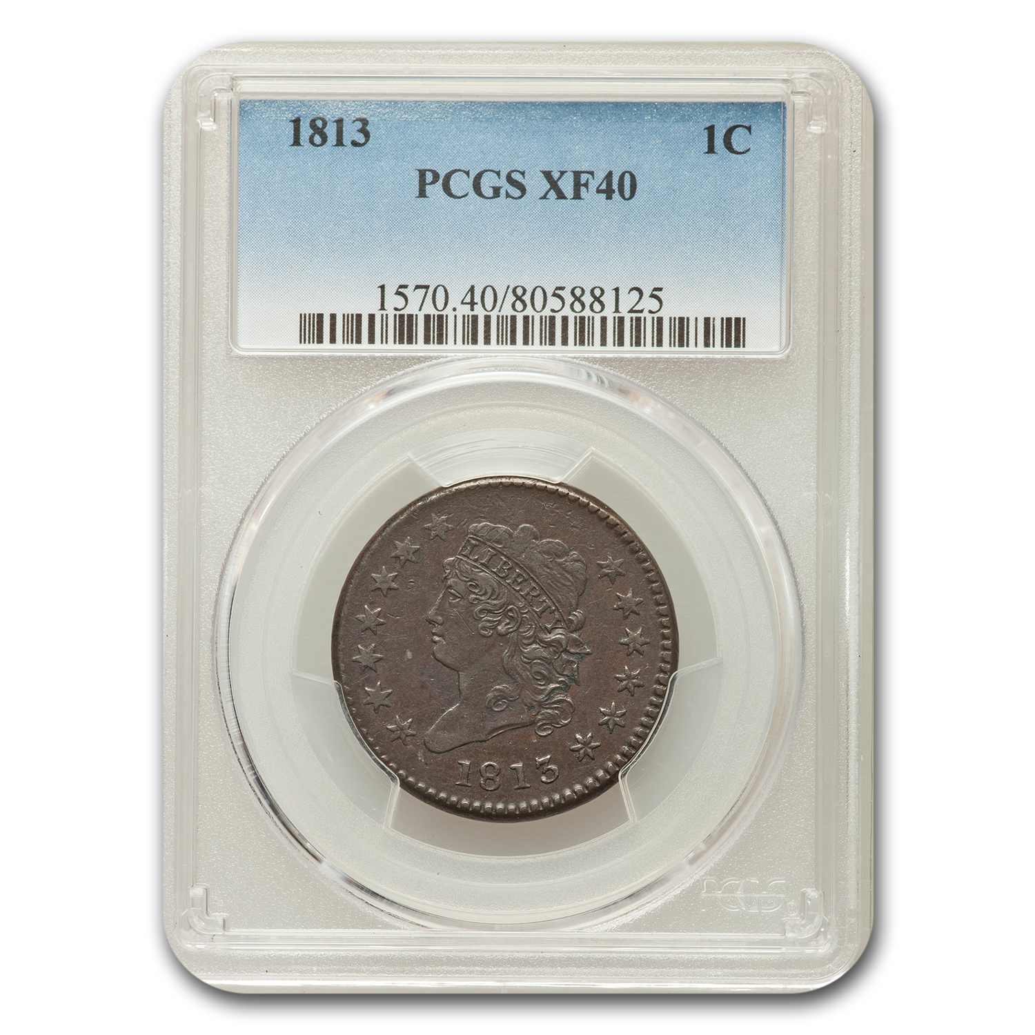 1813 Large Cent XF-40 PCGS