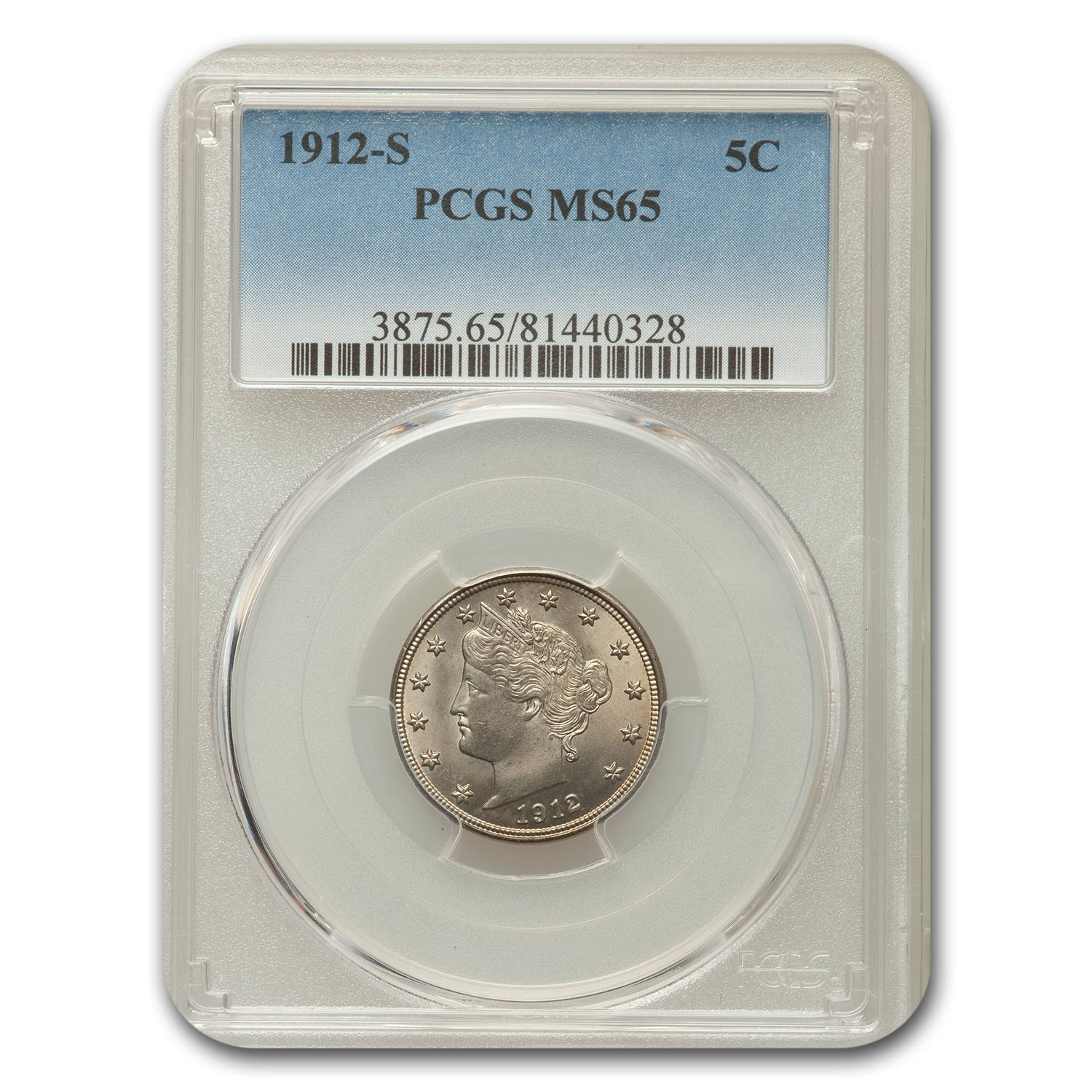 1912-S Liberty Nickel MS-65 PCGS