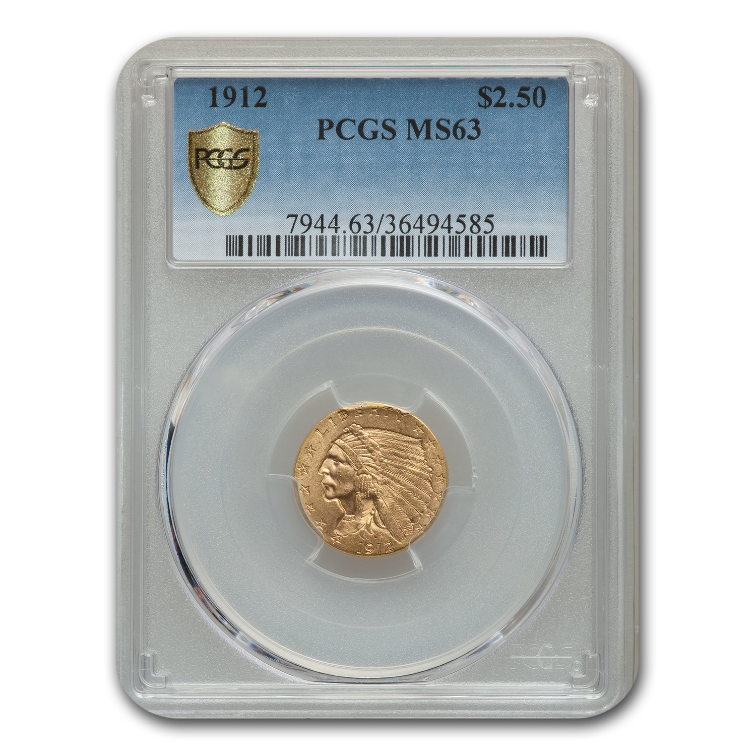 1912 $2.50 Indian Quarter Eagle MS-63 PCGS