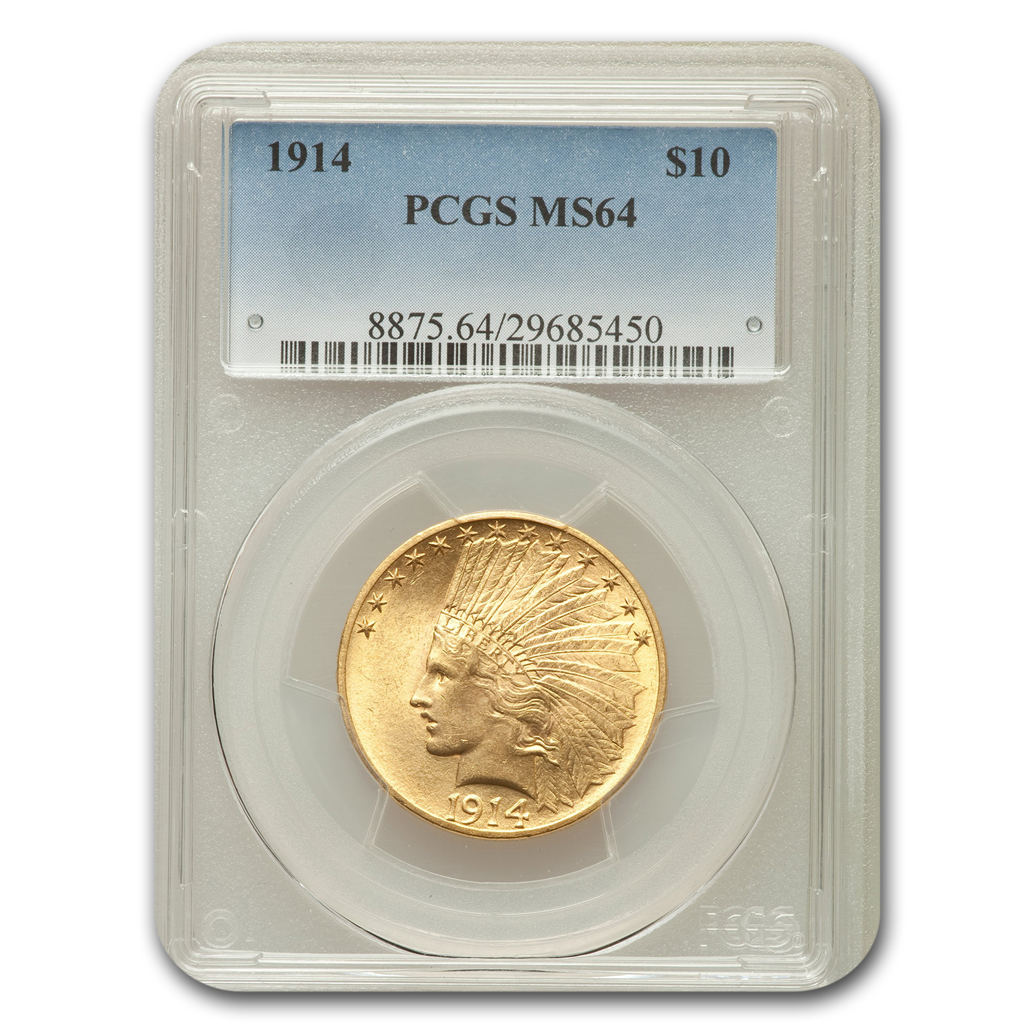 1914 $10 Indian Eagle MS-64 PCGS