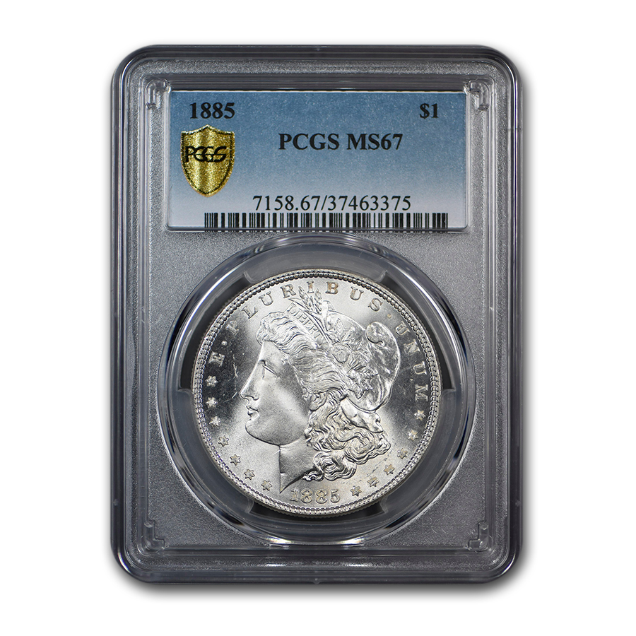 1885 Morgan Dollar MS-67 PCGS