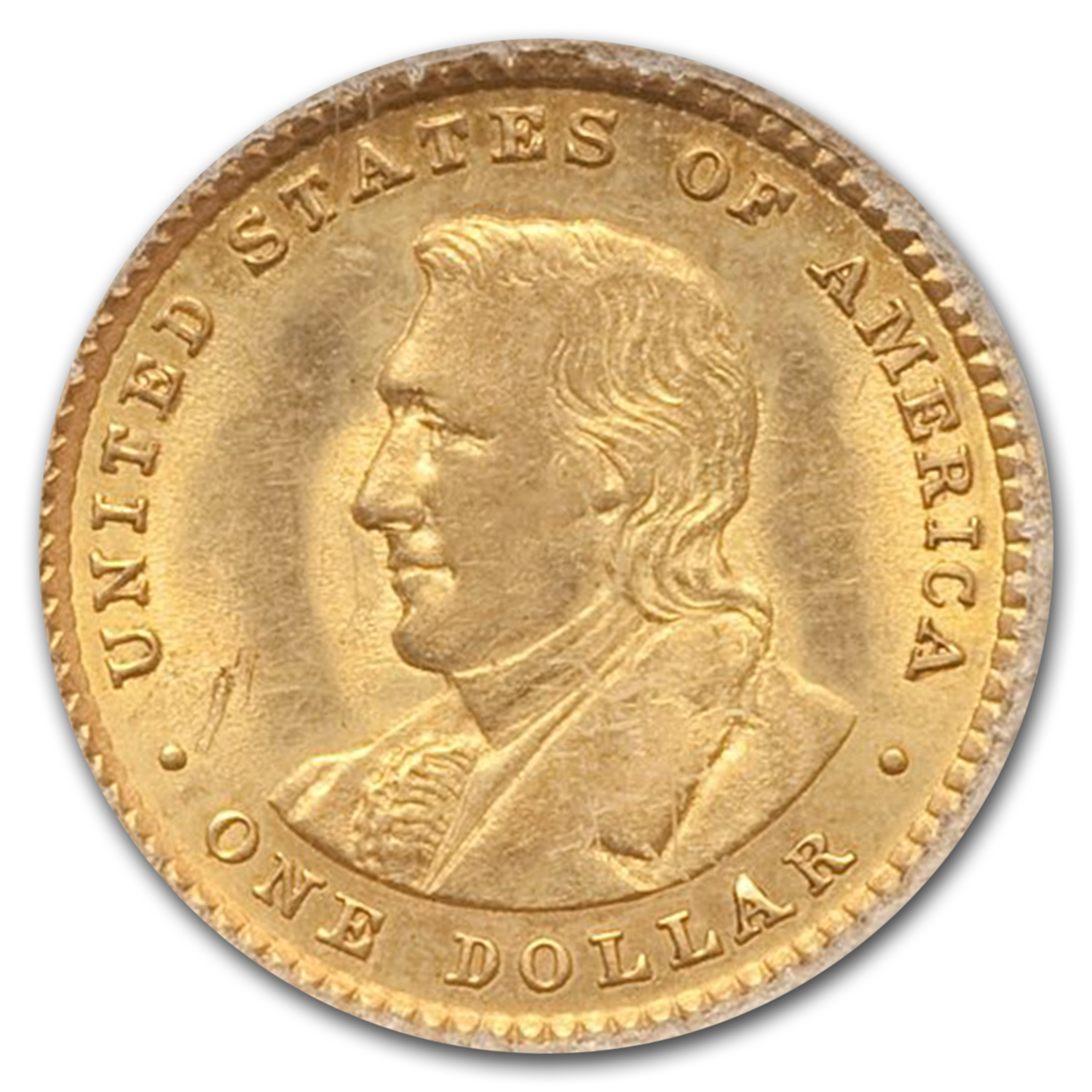 1905 Gold $1.00 Lewis and Clark MS-61 PCGS