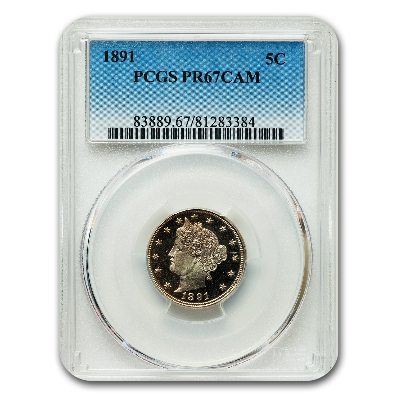 1891 Liberty Nickel PR-67 Cameo PCGS