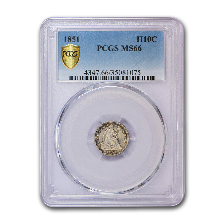 1851 Liberty Seated Half Dime MS-66 PCGS