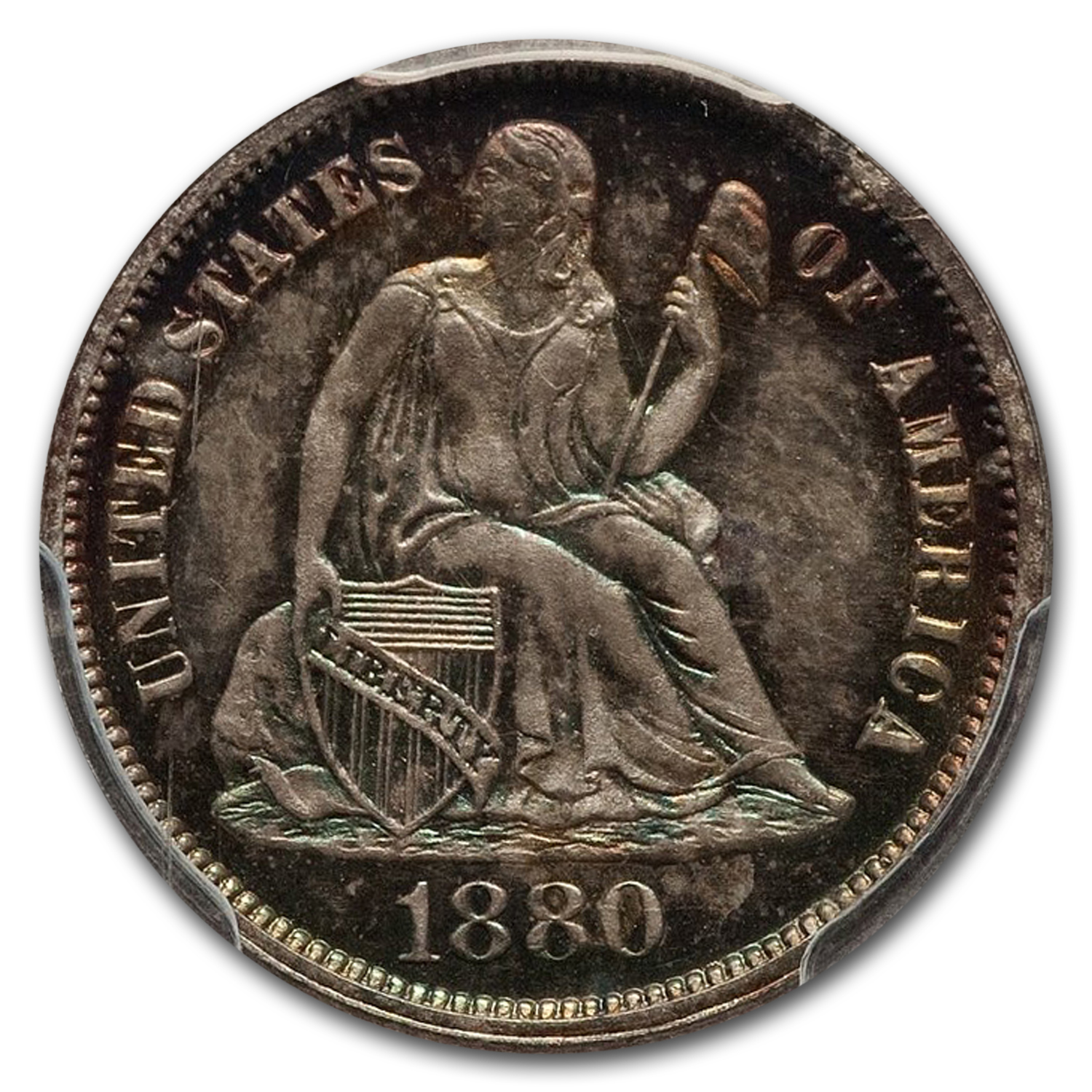 1880 Liberty Seated Dime PR-65 PCGS