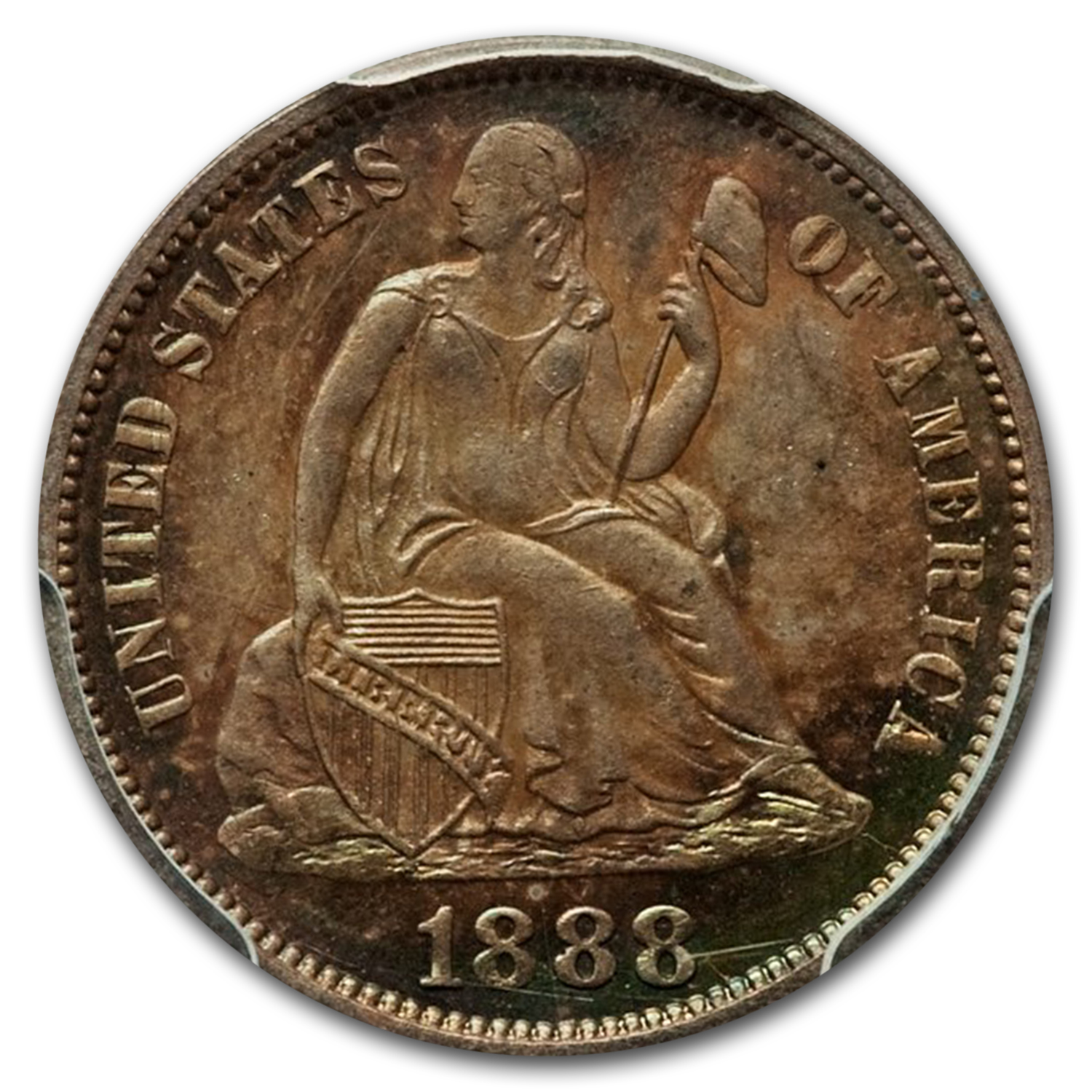 1888 Liberty Seated Dime PR-65 PCGS