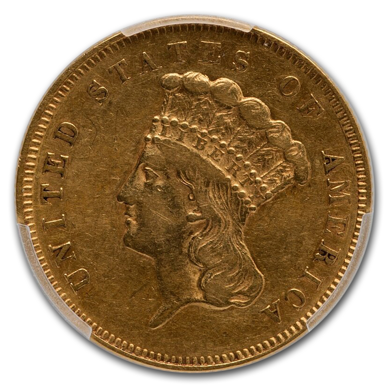 1857 $3 Gold Princess XF-45 PCGS