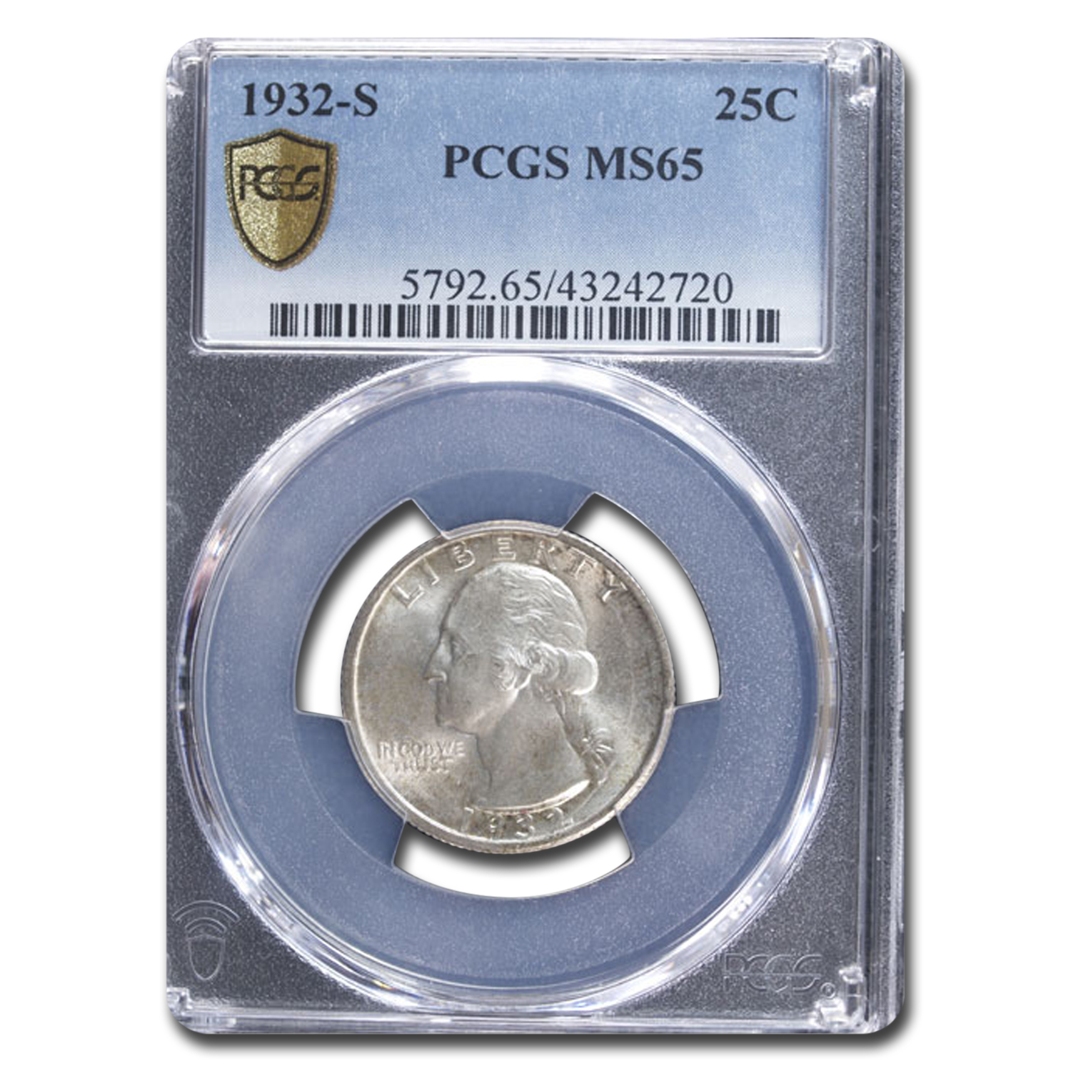 1932-S Washington Quarter MS-65 PCGS