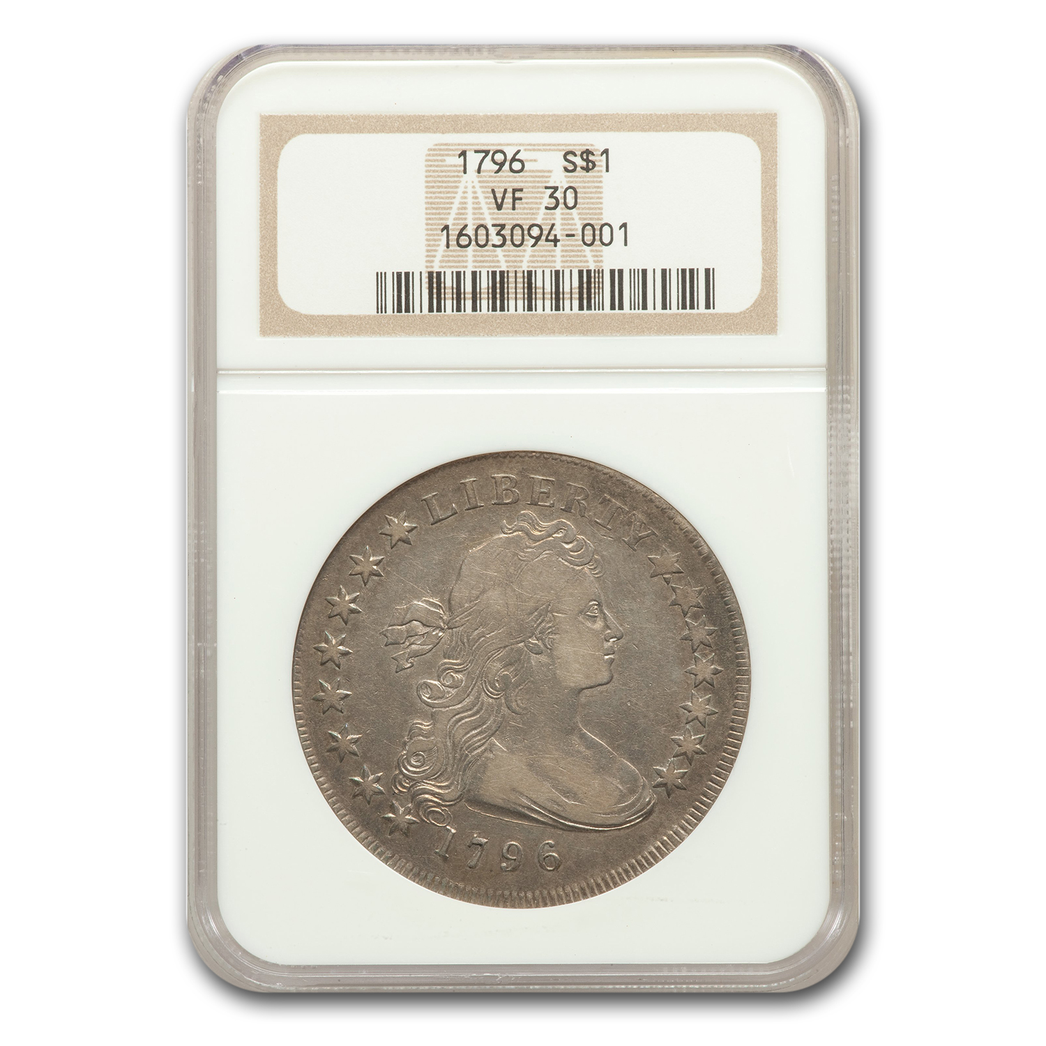 1796 Draped Bust Dollar VF-30 NGC