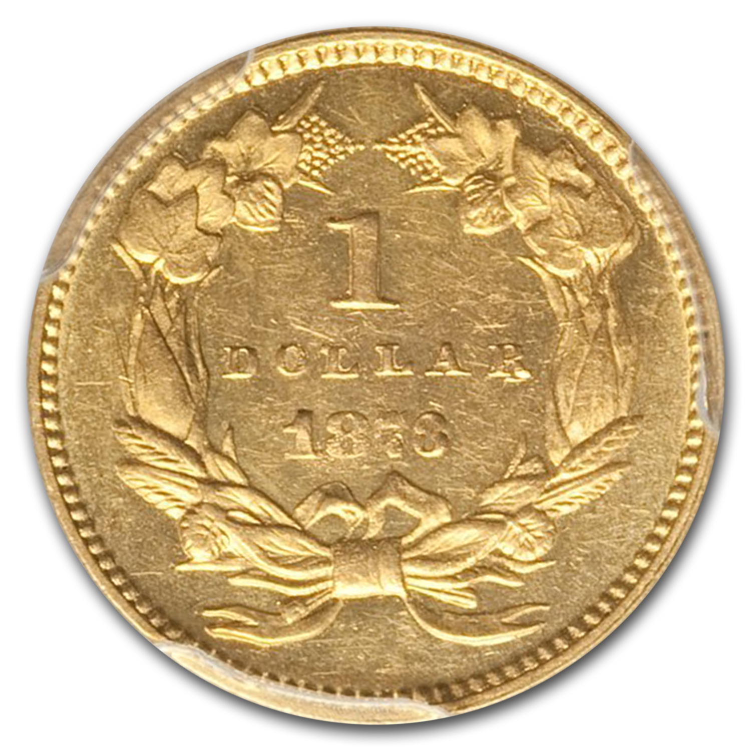 1873 G$1 Gold Dollar MS-62 PCGS