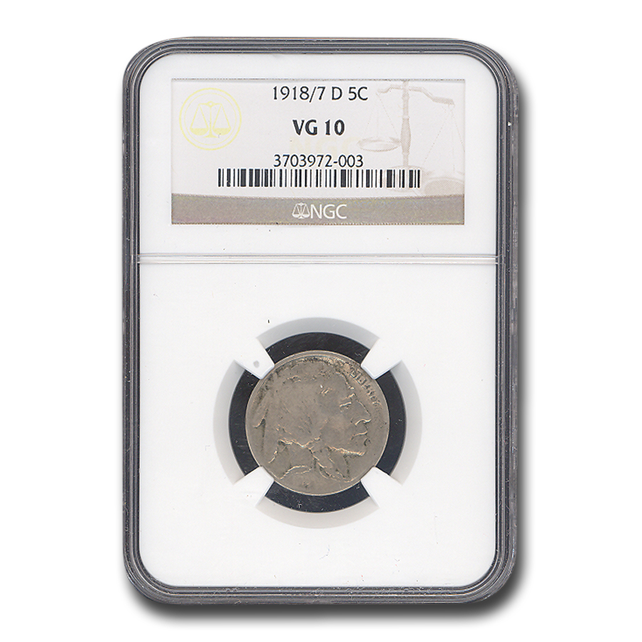 1918/7-D Buffalo Nickel VG-10 NGC
