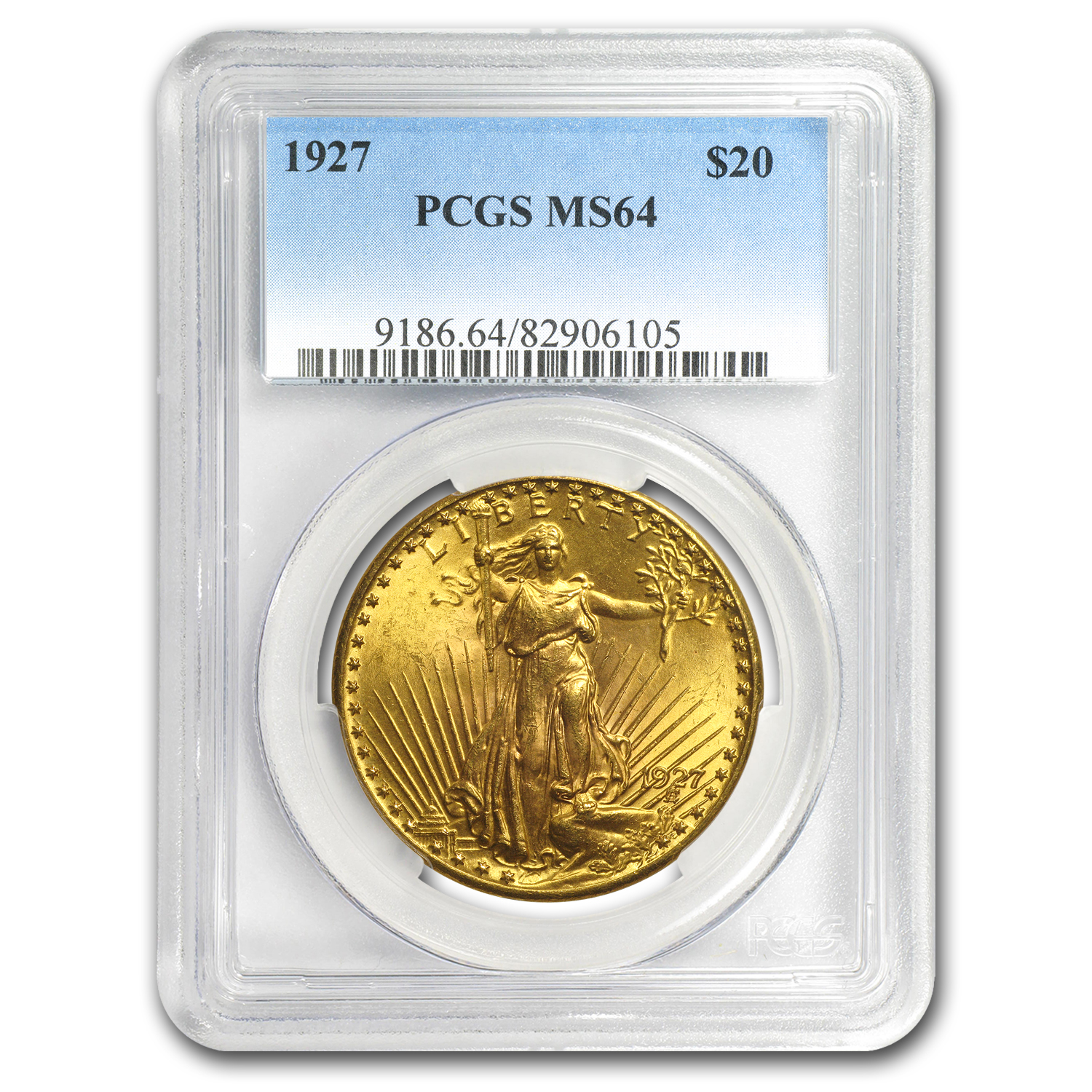 1927 $20 St. Gaudens Gold Double Eagle - MS-64 PCGS