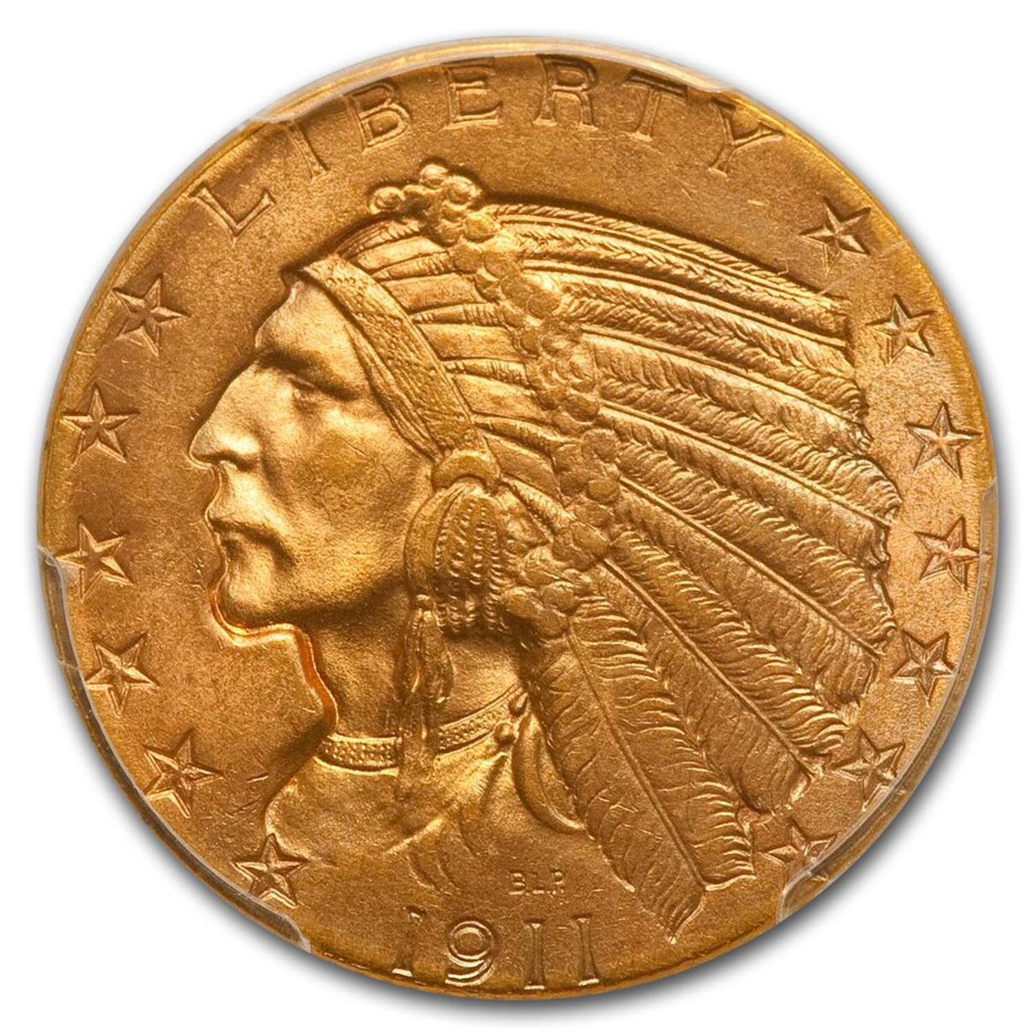 1911 $5 Indian Gold Half Eagle MS-65 PCGS