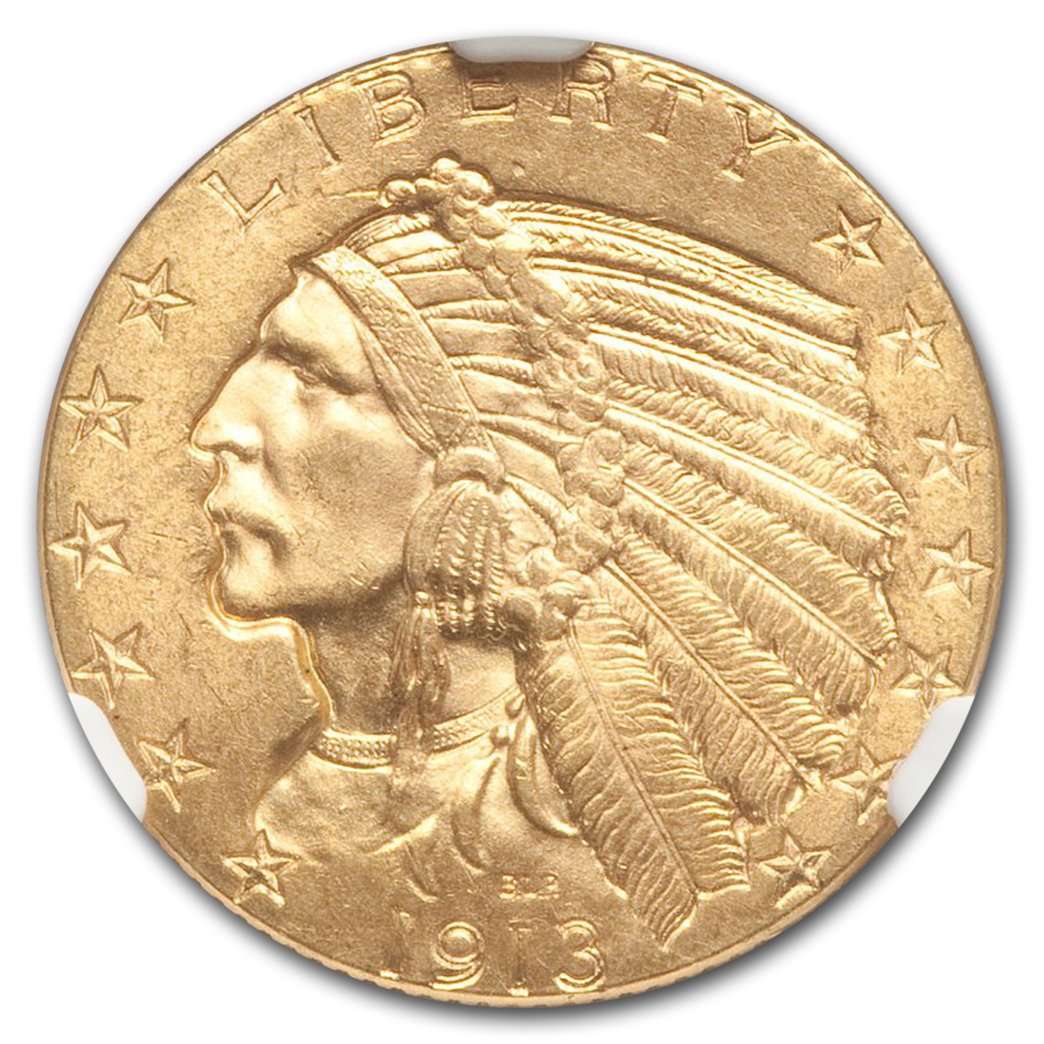 1913 $5 Indian Gold Half Eagle MS-65 NGC