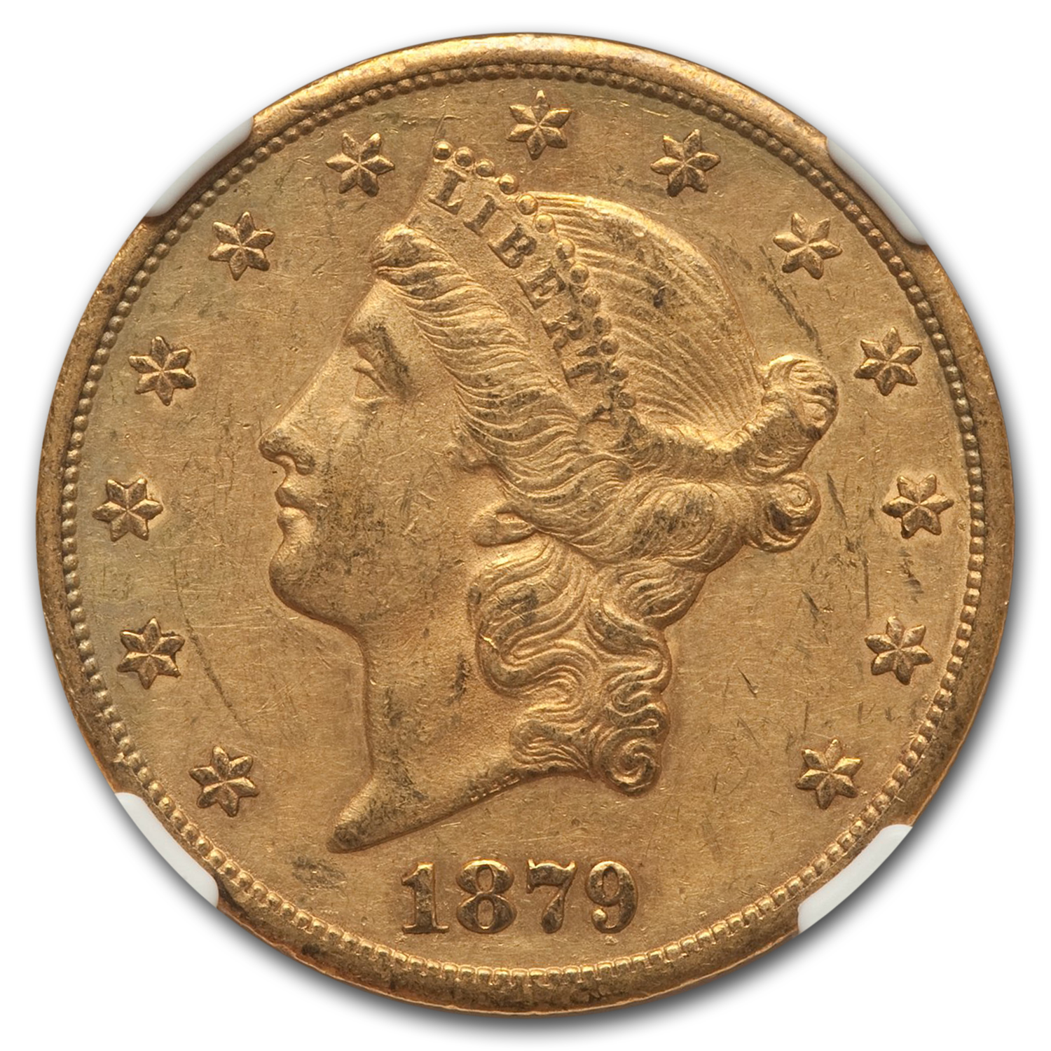 1879-CC $20 Liberty Double Eagle AU-58 NGC