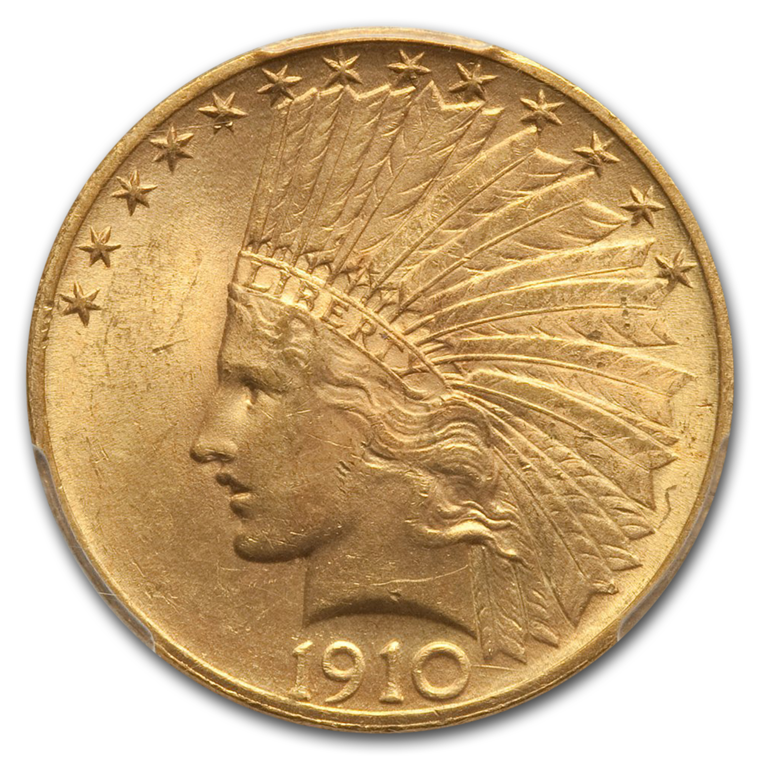 1910 $10 Indian Eagle MS-64 PCGS