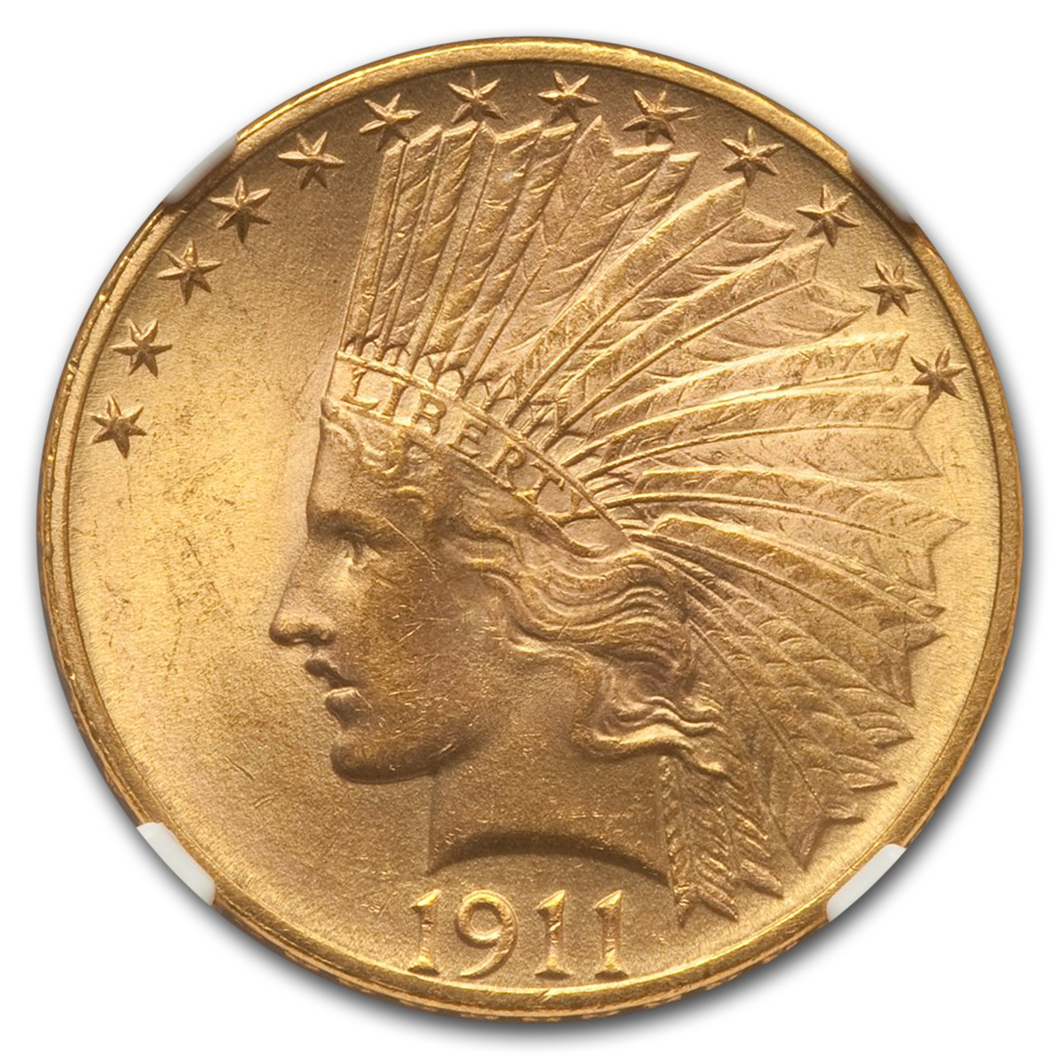 1911 $10 Indian Eagle MS-64 NGC