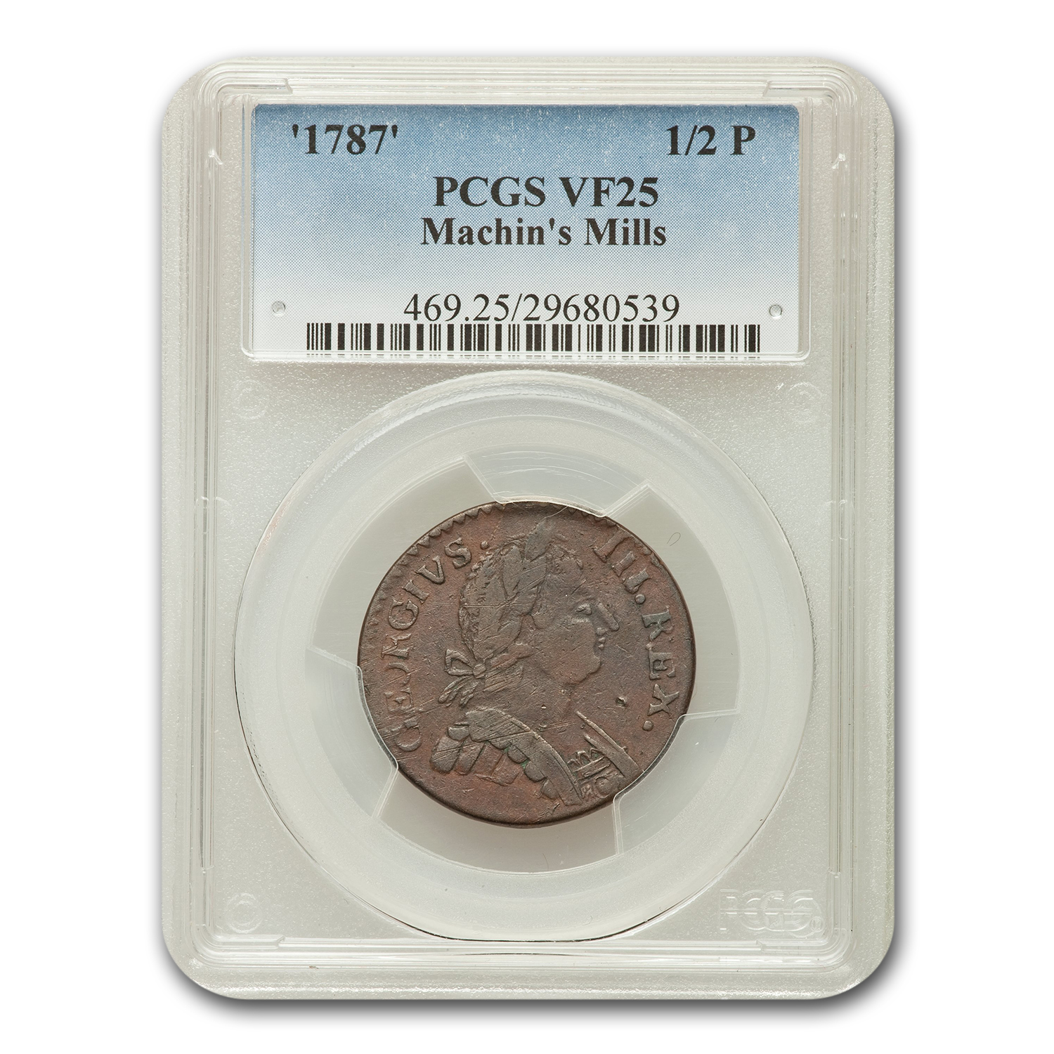 1787 1/2 Pence Colonial VF-25 PCGS