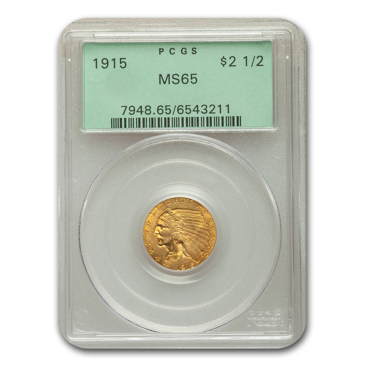 1915 $2.50 Indian Quarter Eagle MS-65 PCGS