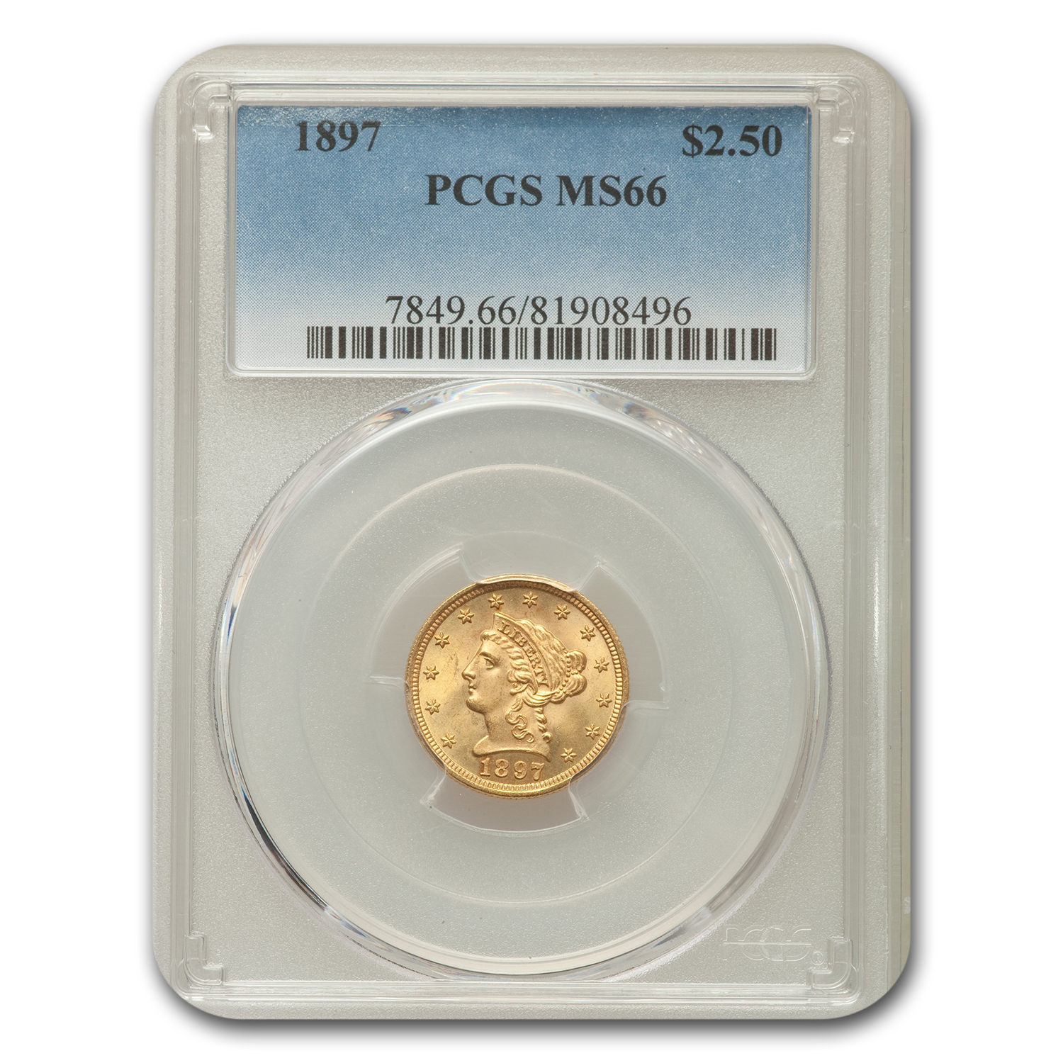 1897 $2.50 Liberty Quarter Eagle MS-66 PCGS