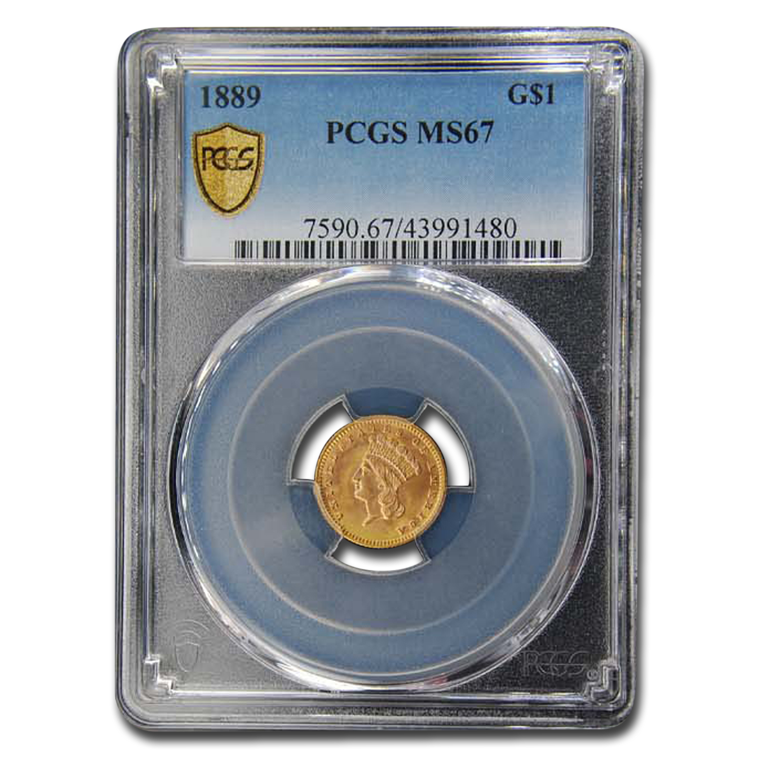 1889 $1.00 Indian Head Gold Type 3 MS-67 PCGS