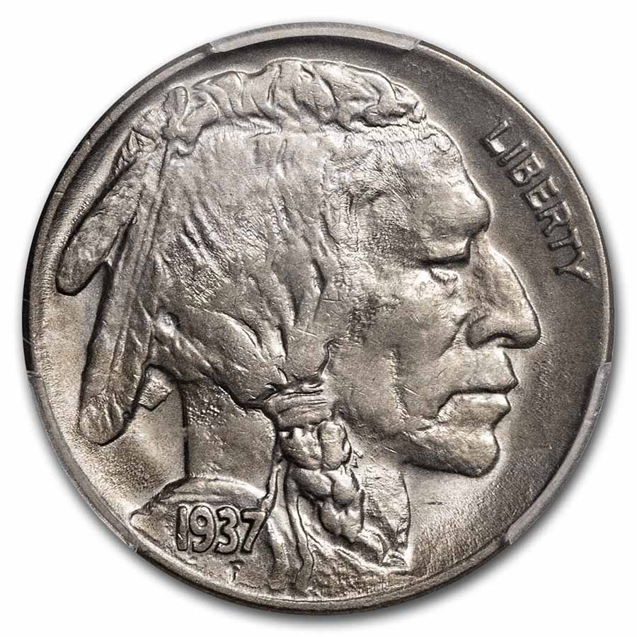 1937-D 3 Legged Buffalo Nickel MS-62 PCGS