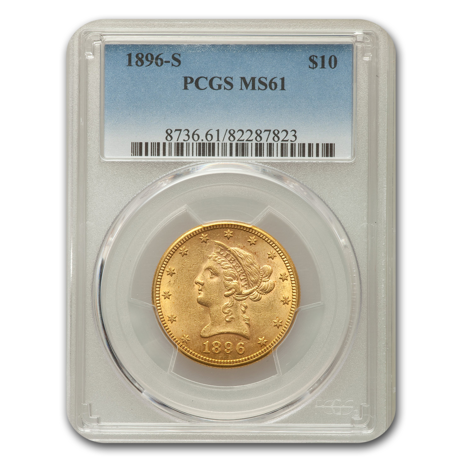 1896-S $10 Liberty Eagle MS-61 PCGS