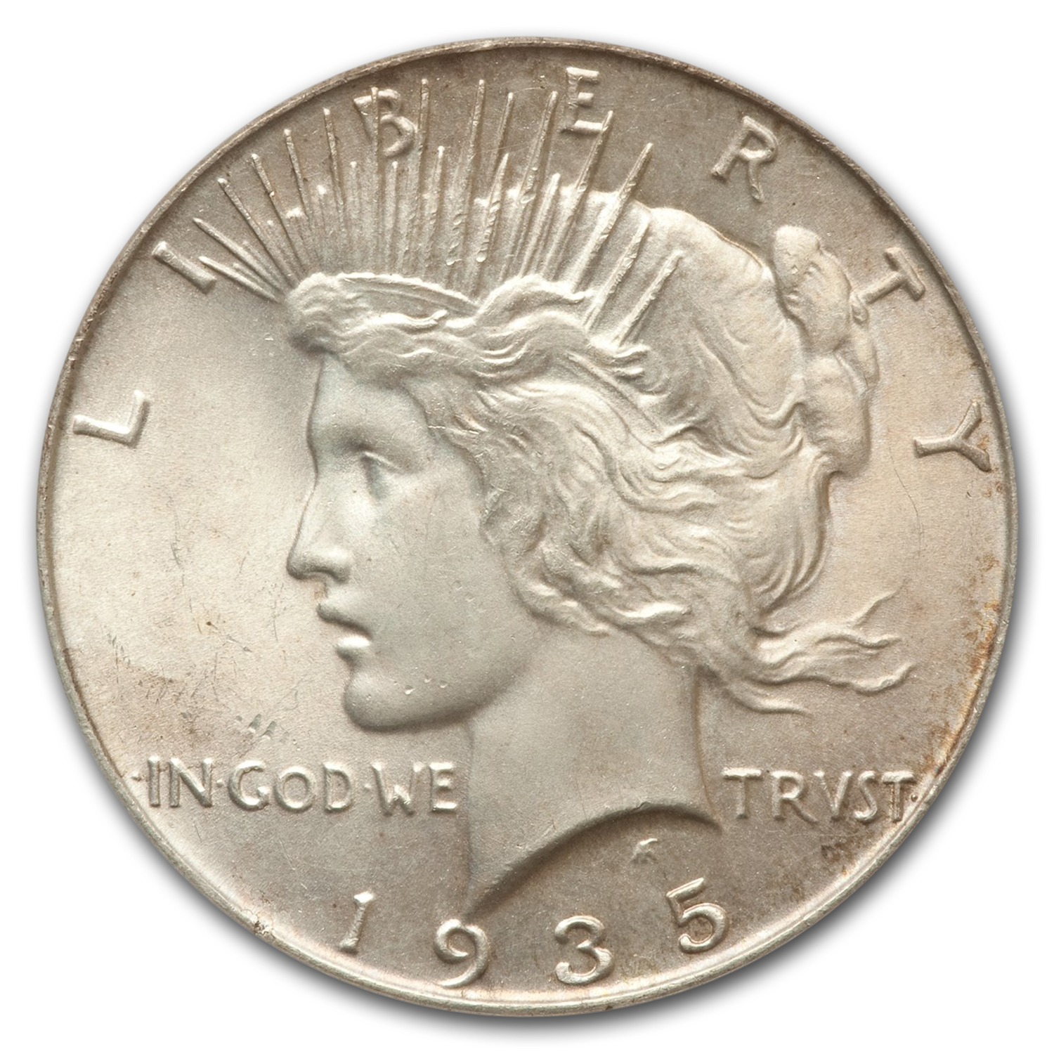 1935 Peace Dollar MS-65 PCGS