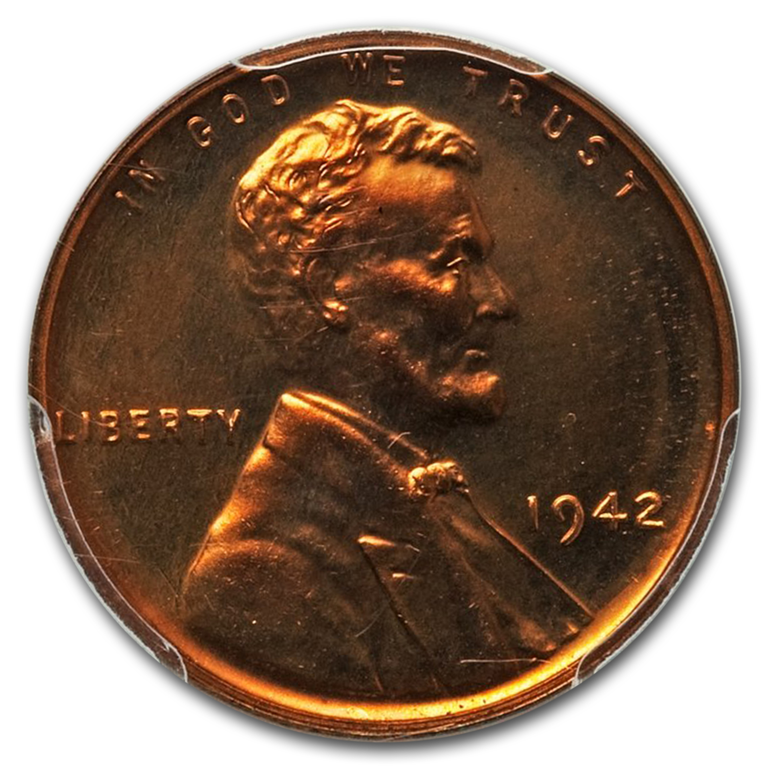 1942 1C Lincoln Cent Proof - 67 PCGS