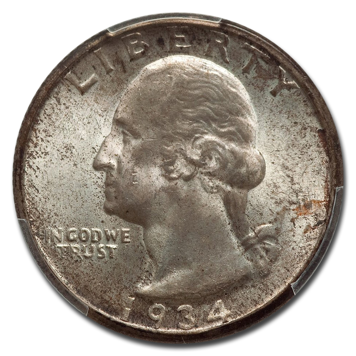 1934-D Washington Quarter MS-66 PCGS