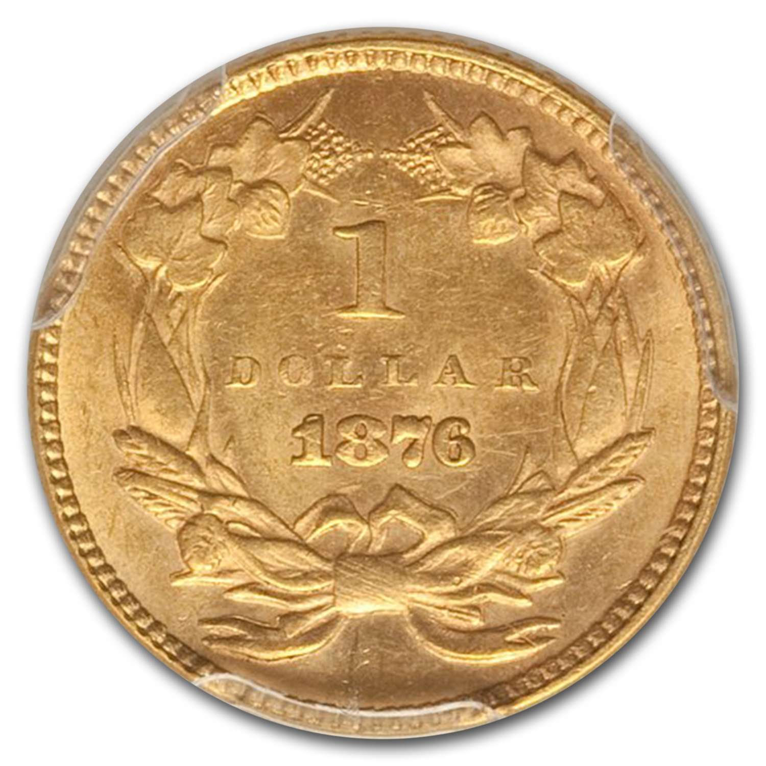 1876 G$1 Gold Dollar MS-63 PCGS