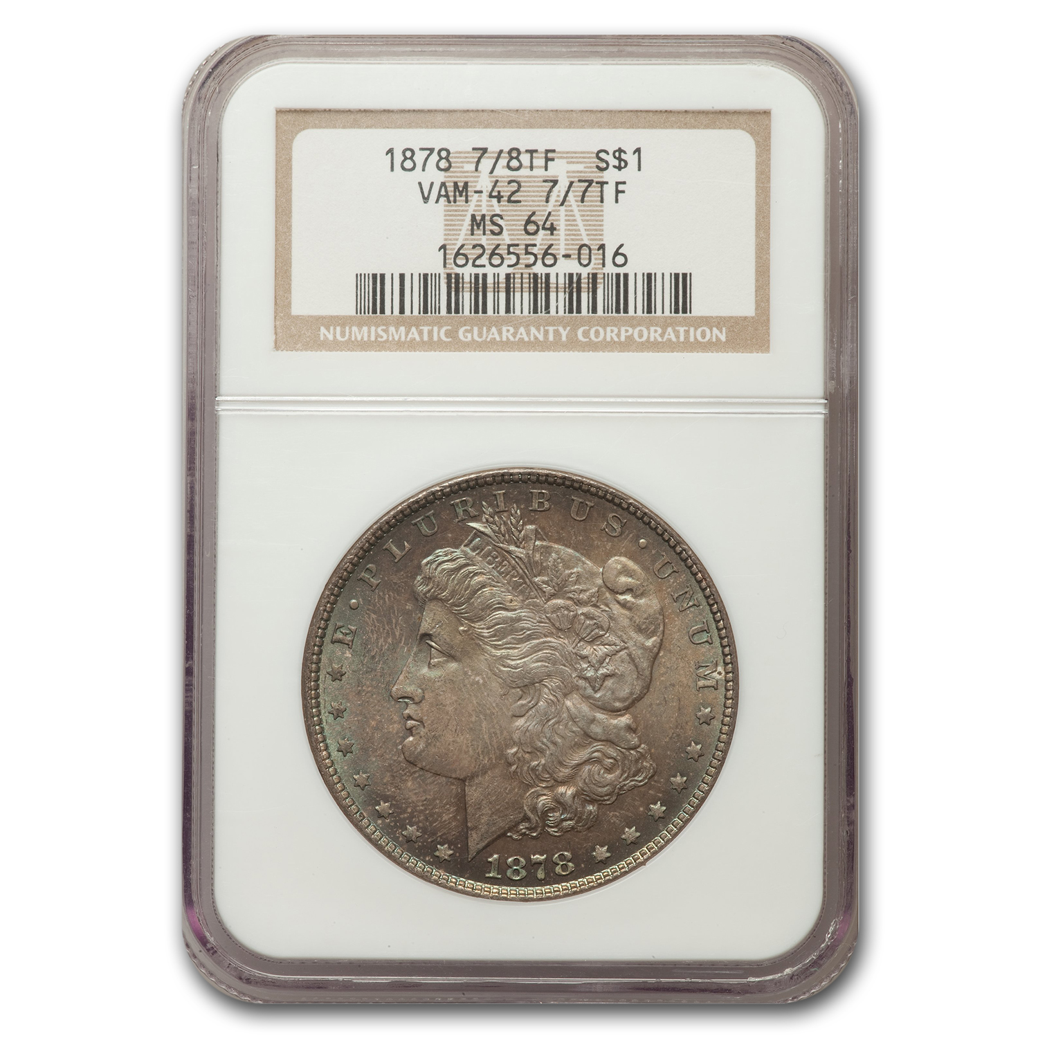 1878 S$1 Morgan Dollar MS-64 0 NGC