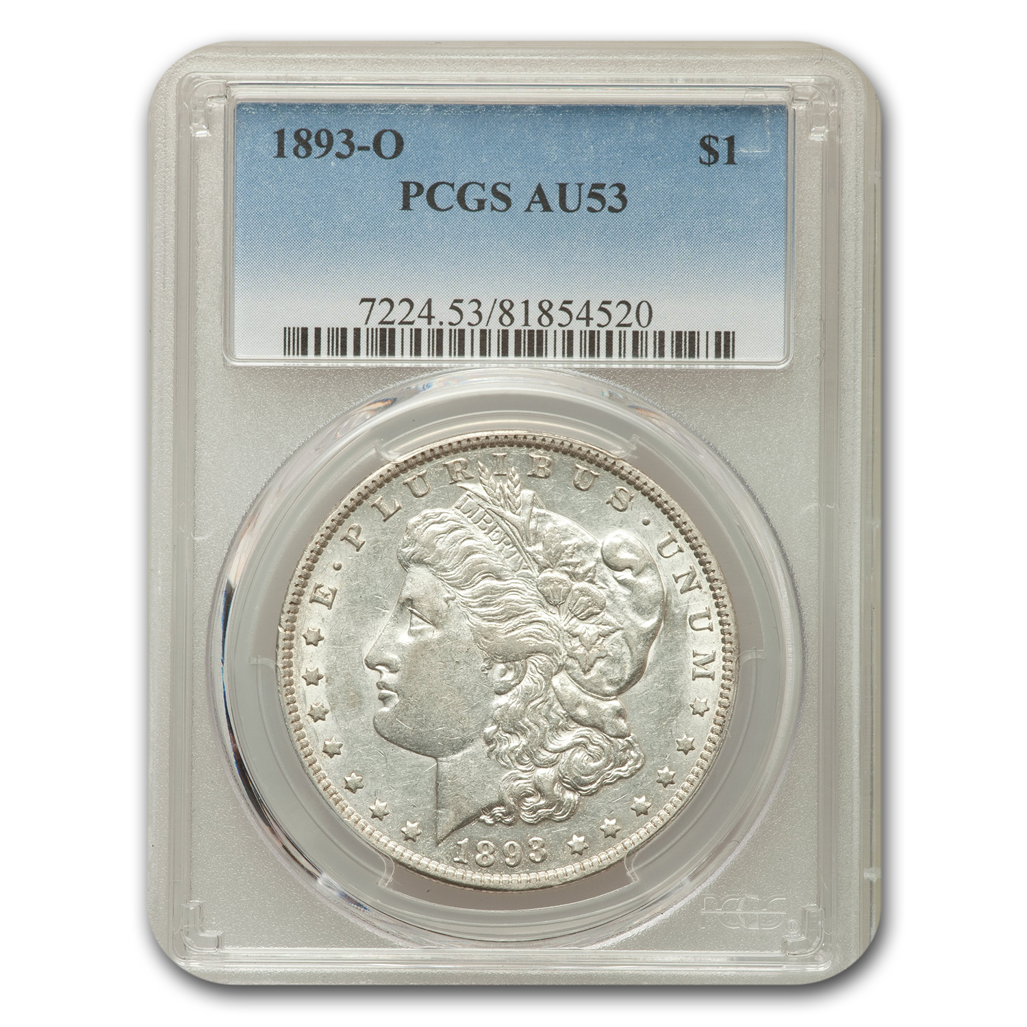 1893 $1 Morgan Dollar Almost unc - 53 PCGS